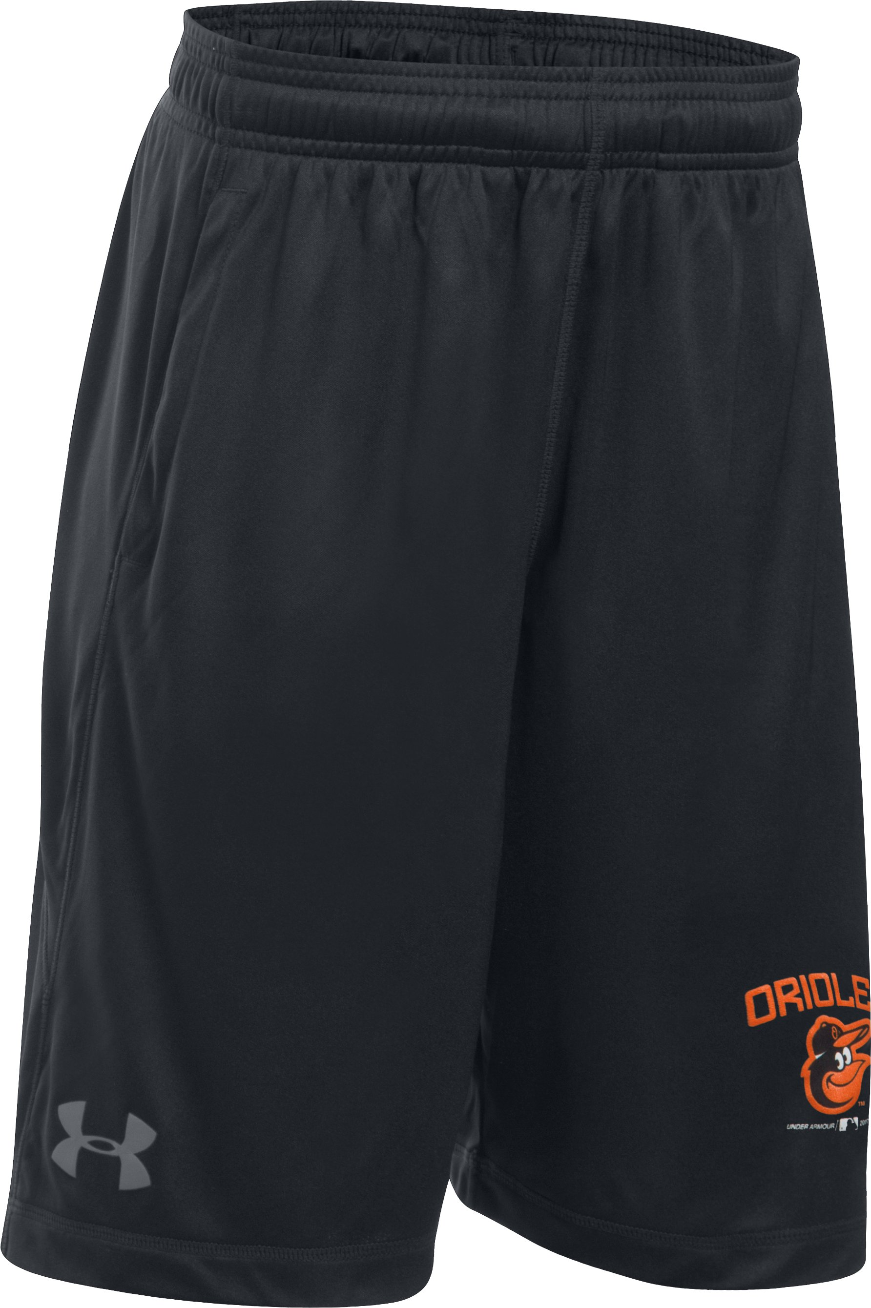 Boys' Orioles Training Shorts, Black , zoomed image