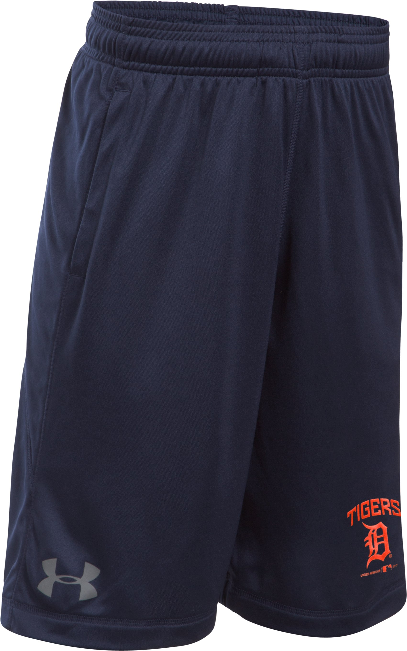 Boys' Detroit Tigers Training Shorts, Midnight Navy