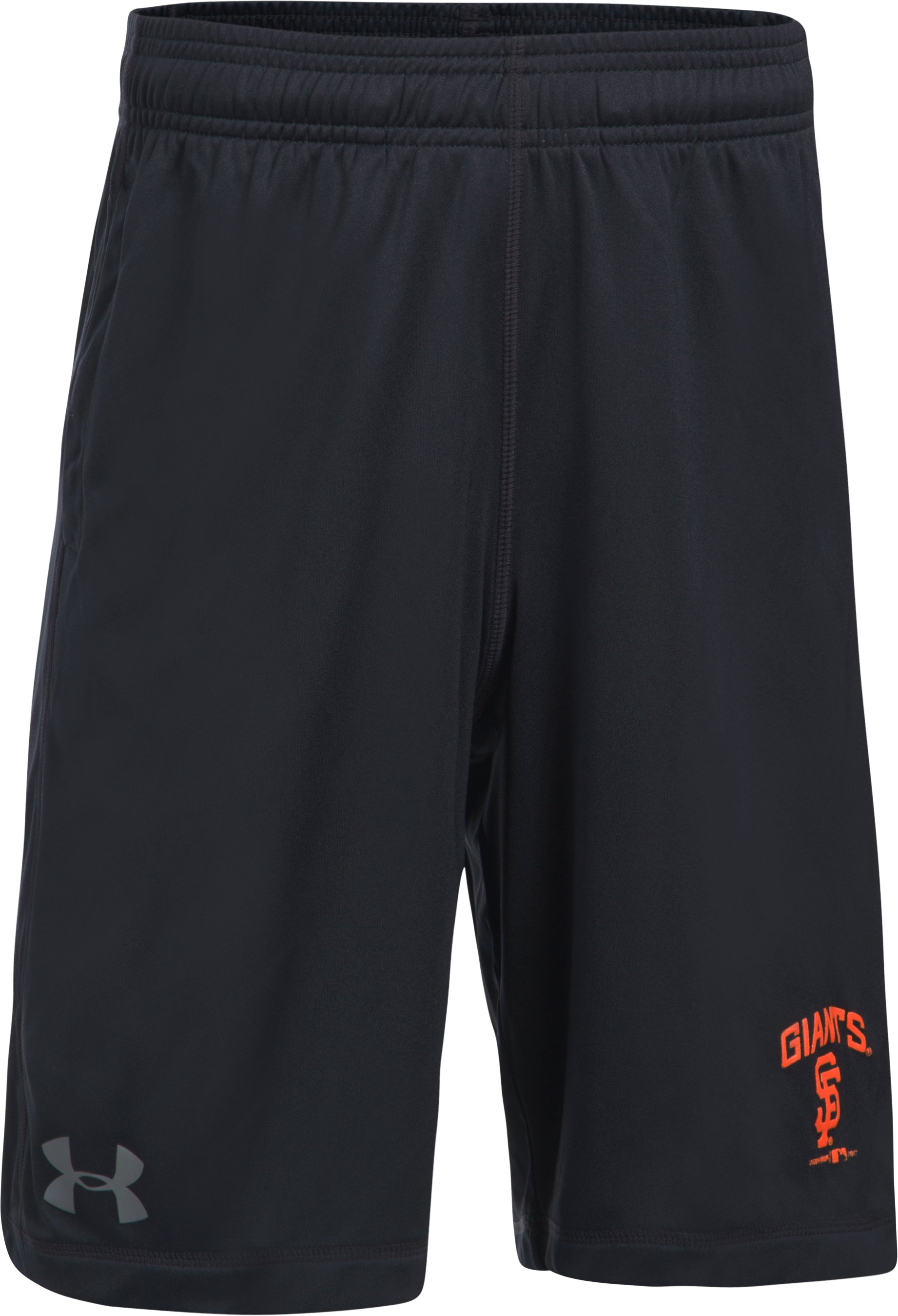 Boys' San Francisco Giants Training Shorts, Black , undefined