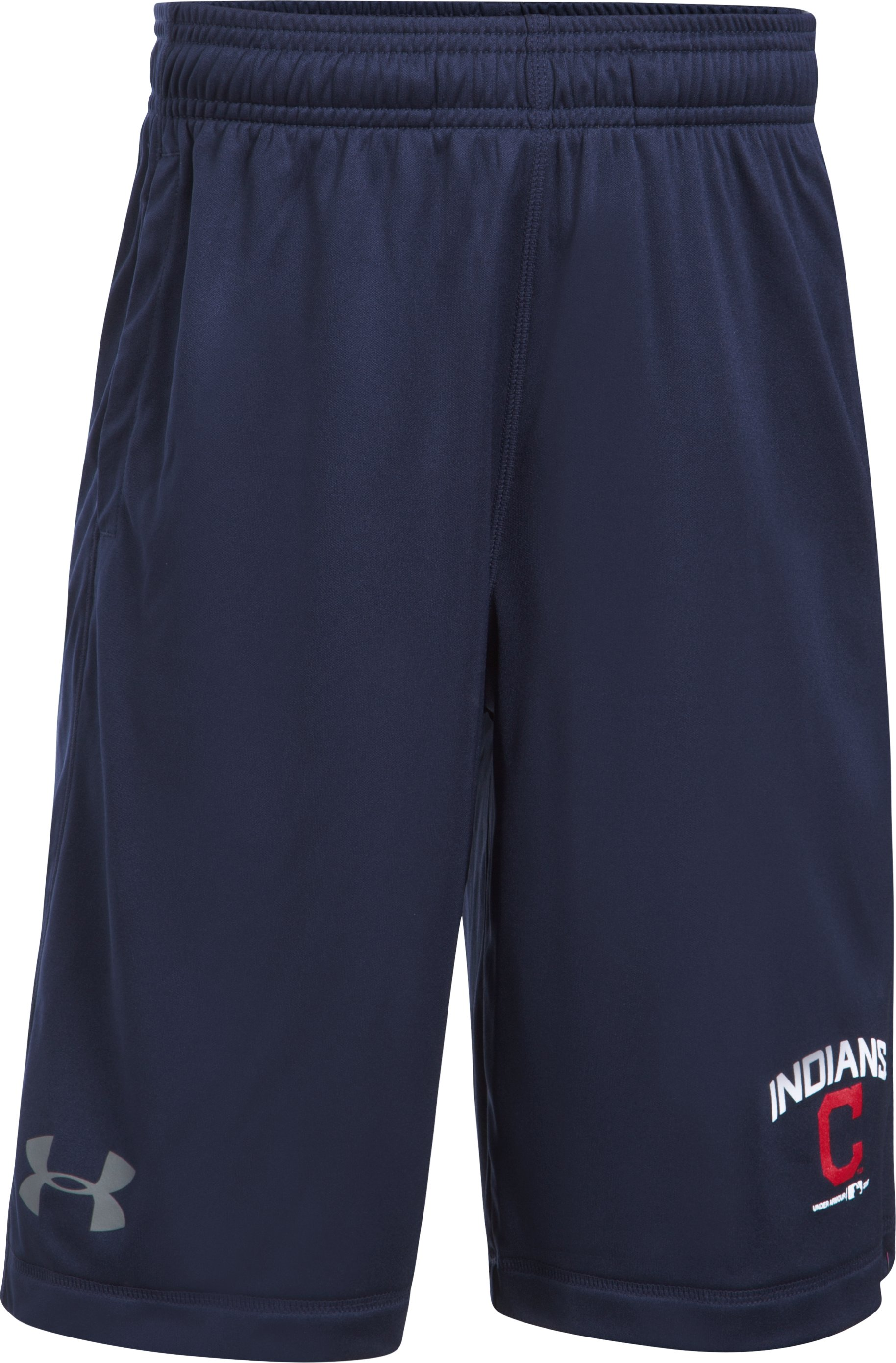 Boys' Cleveland Indians Training Shorts, Midnight Navy,