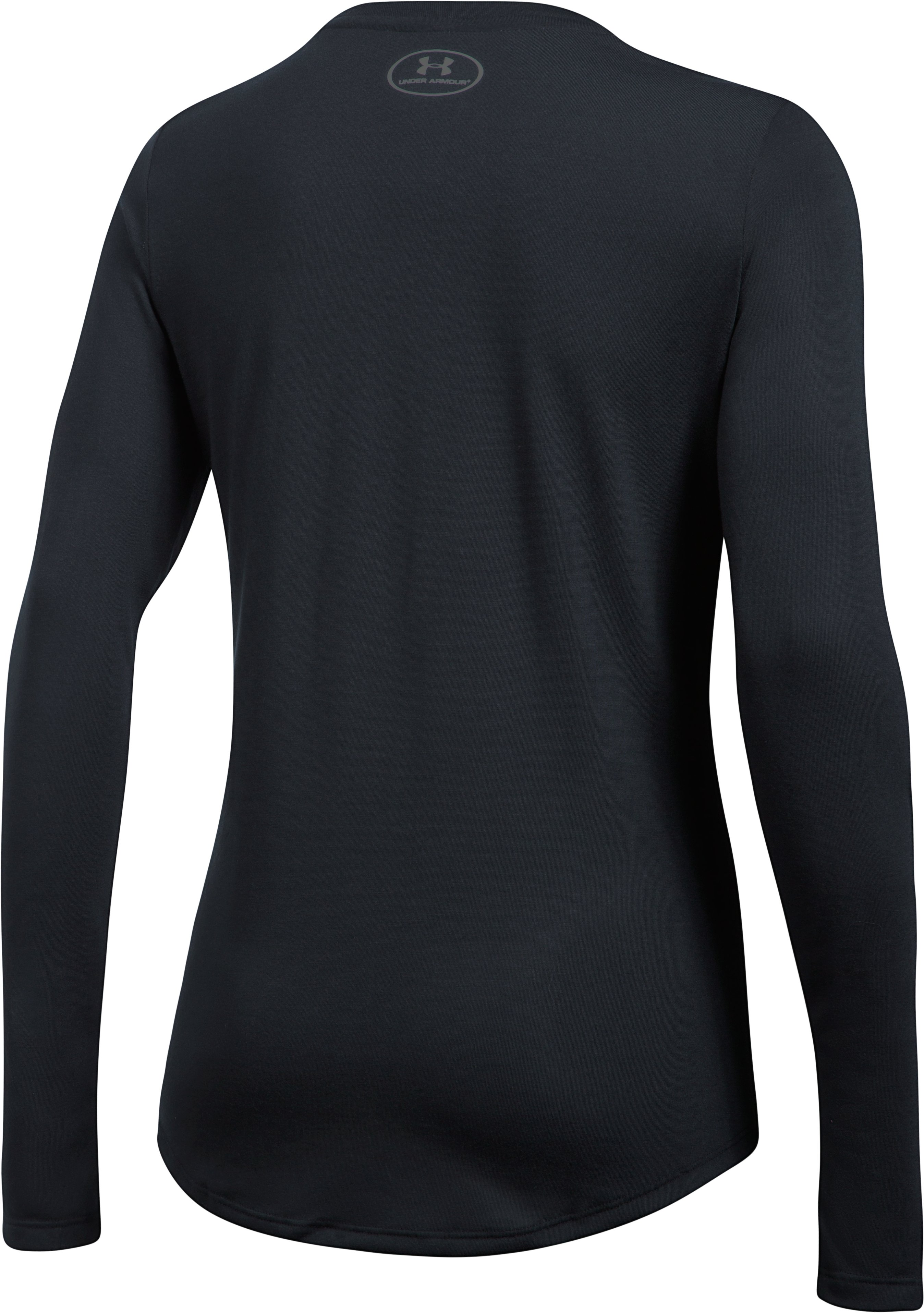 Women's UA Threadborne Long Sleeve Crew, Black ,