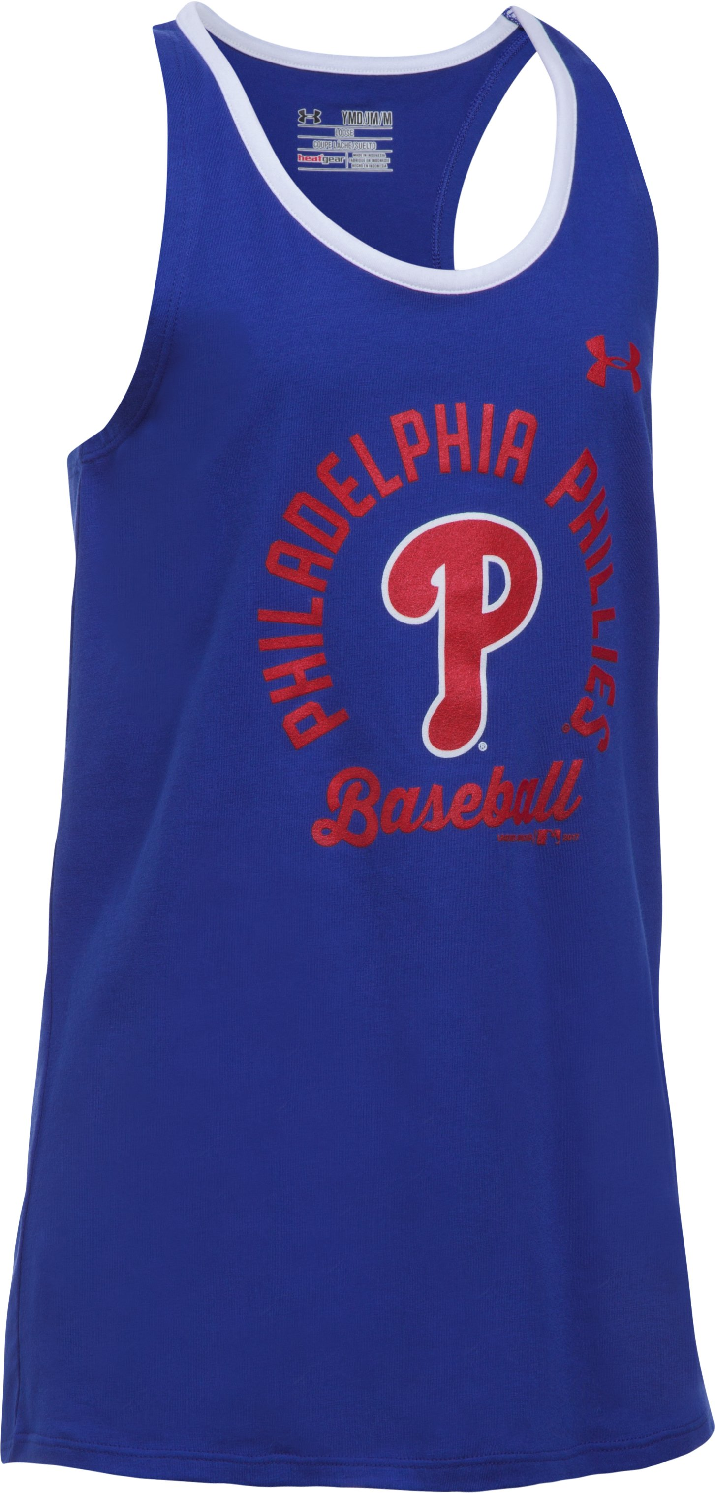 Girls' Philadelphia Phillies Ringer Tank, Royal,