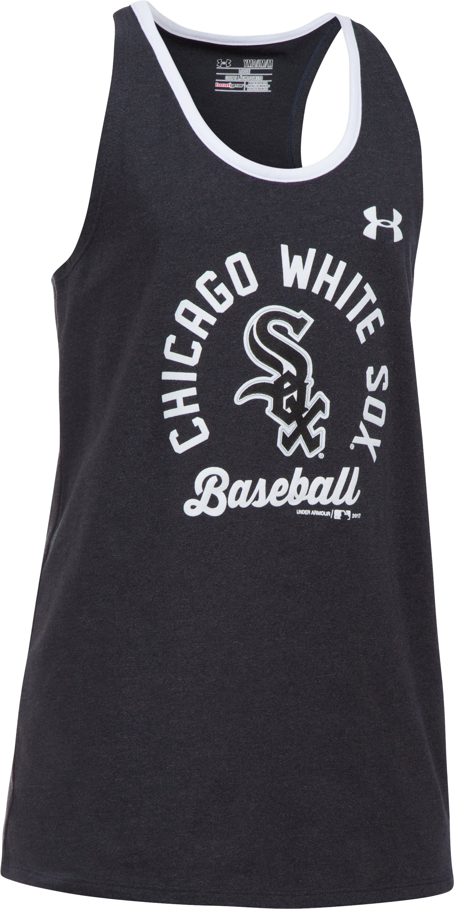 Girls' Chicago White Sox Ringer Tank, Black , undefined