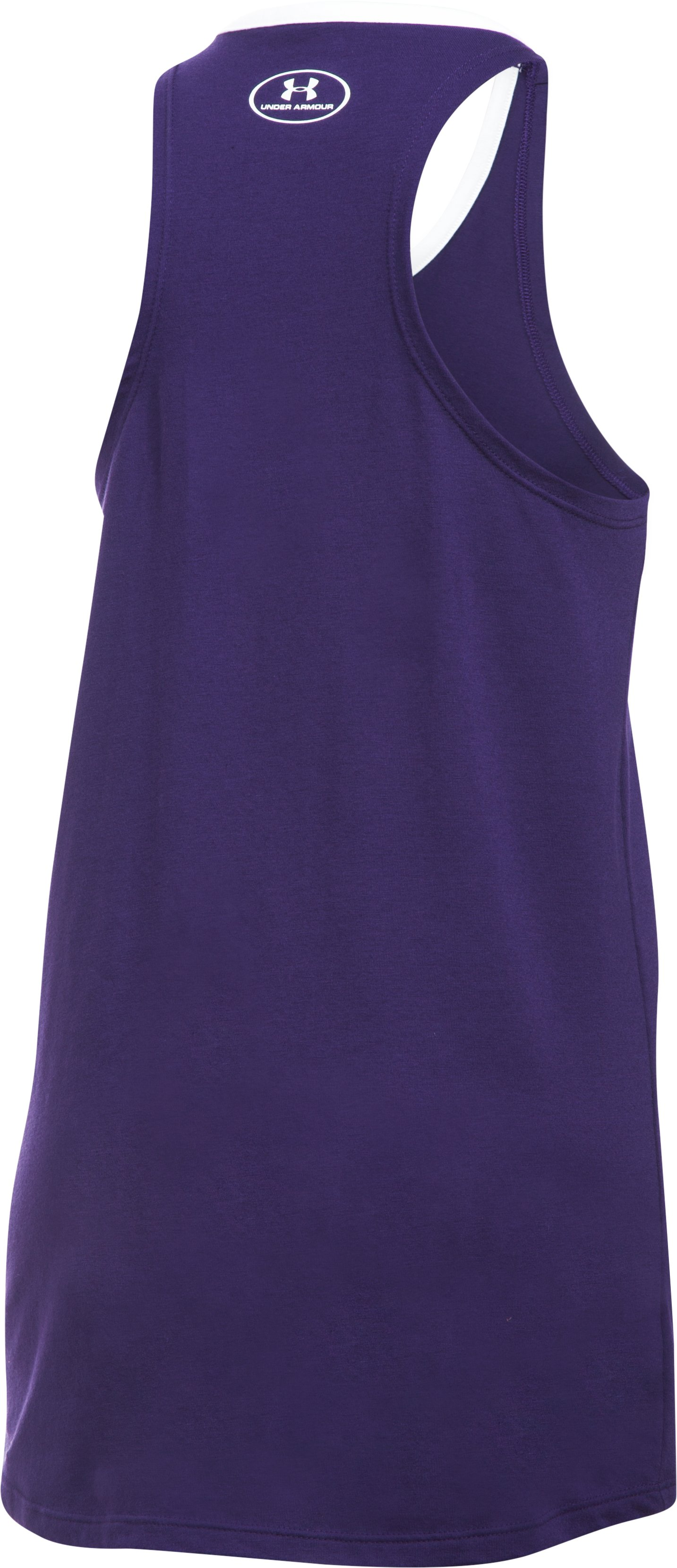 Girls' Colorado Rockies Ringer Tank, Purple, undefined