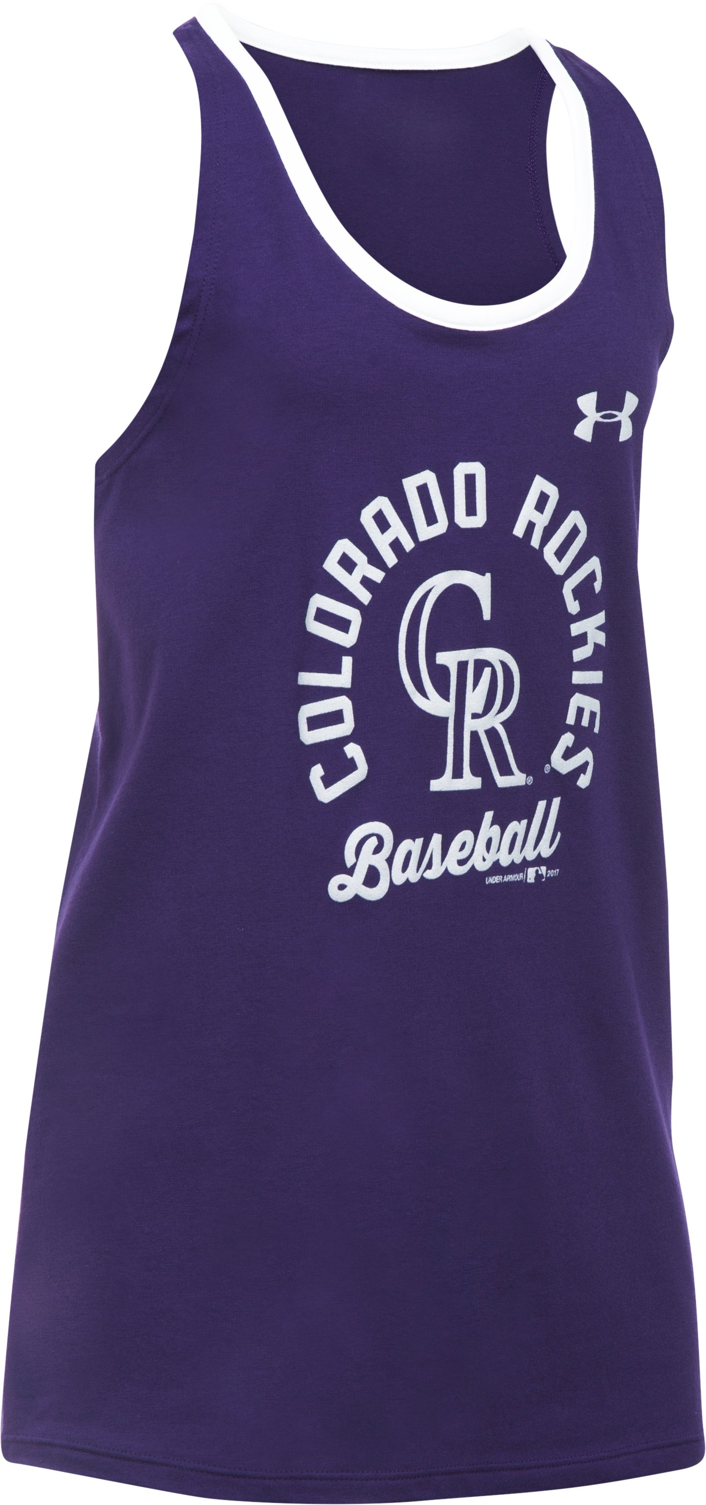 Girls' Colorado Rockies Ringer Tank, Purple