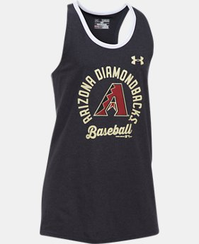 New to Outlet Girls' Arizona Diamondbacks Ringer Tank  1 Color $17.99
