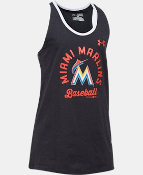 Girls' Miami Marlins Ringer Tank  1  Color Available $18.74