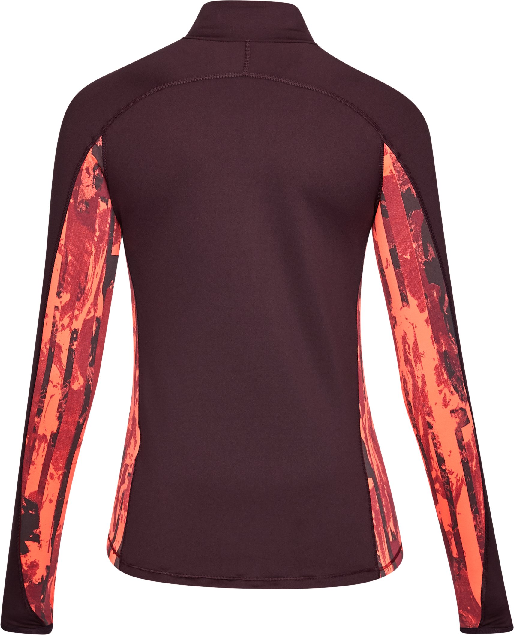 Women's ColdGear® Armour Printed ½ Zip, RAISIN RED,