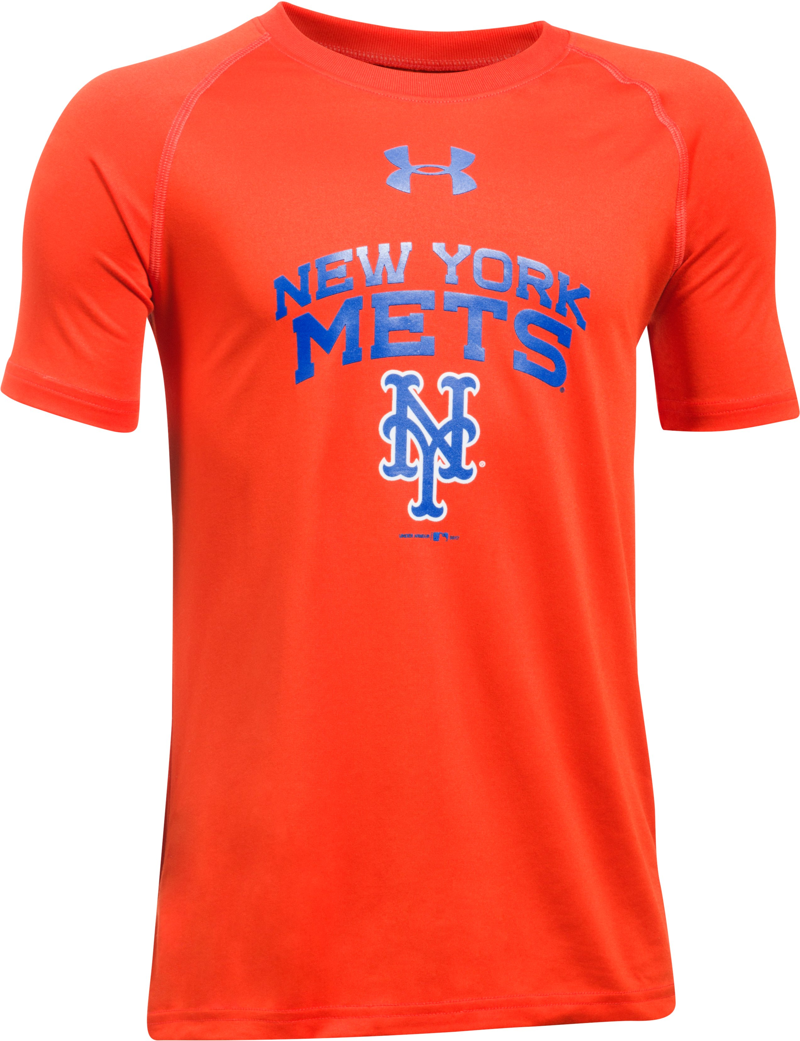Boys' New York Mets UA Tech™ T-Shirt, Dark Orange