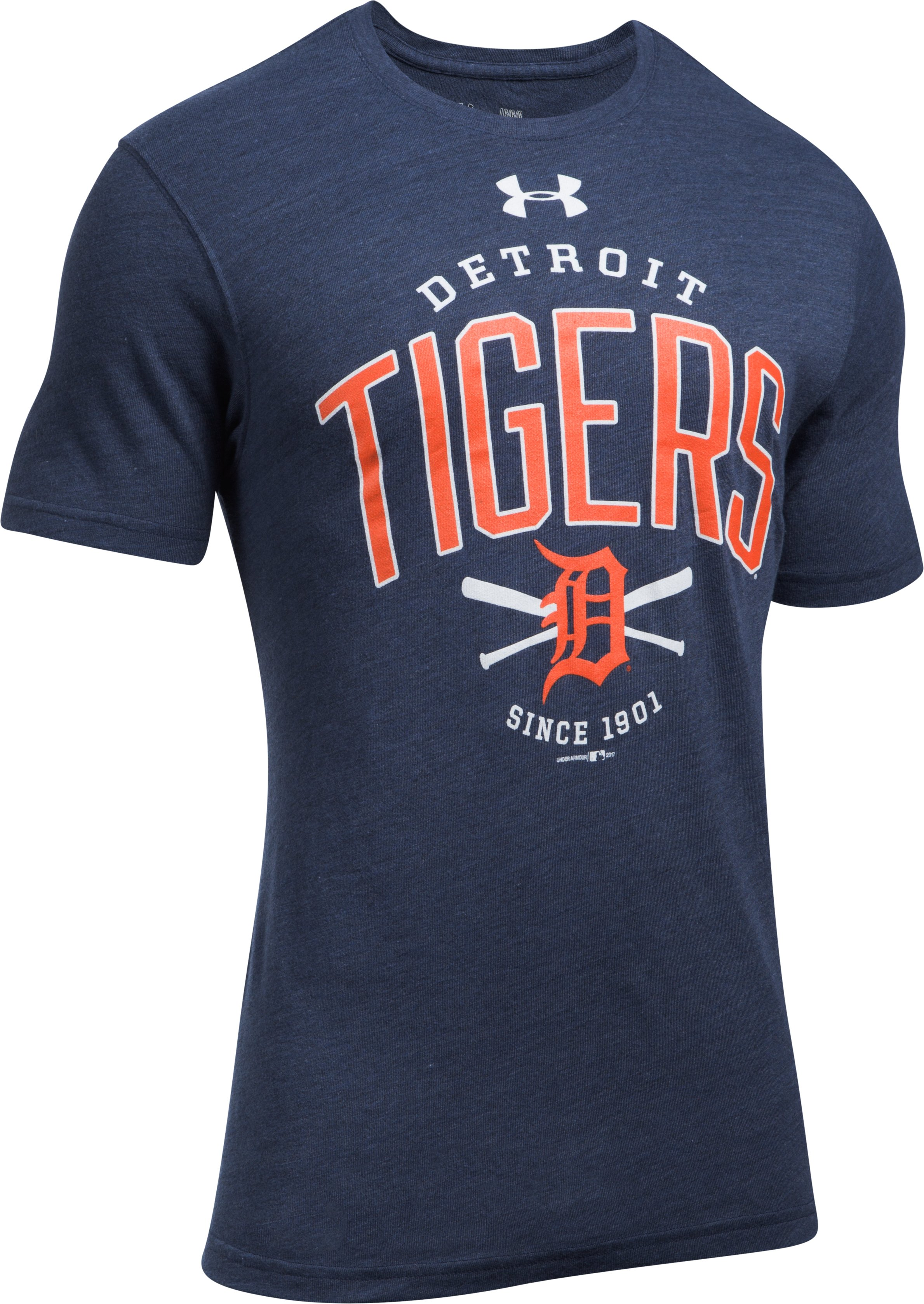 Men's Detroit Tigers Tri-Blend T-Shirt, Midnight Navy,