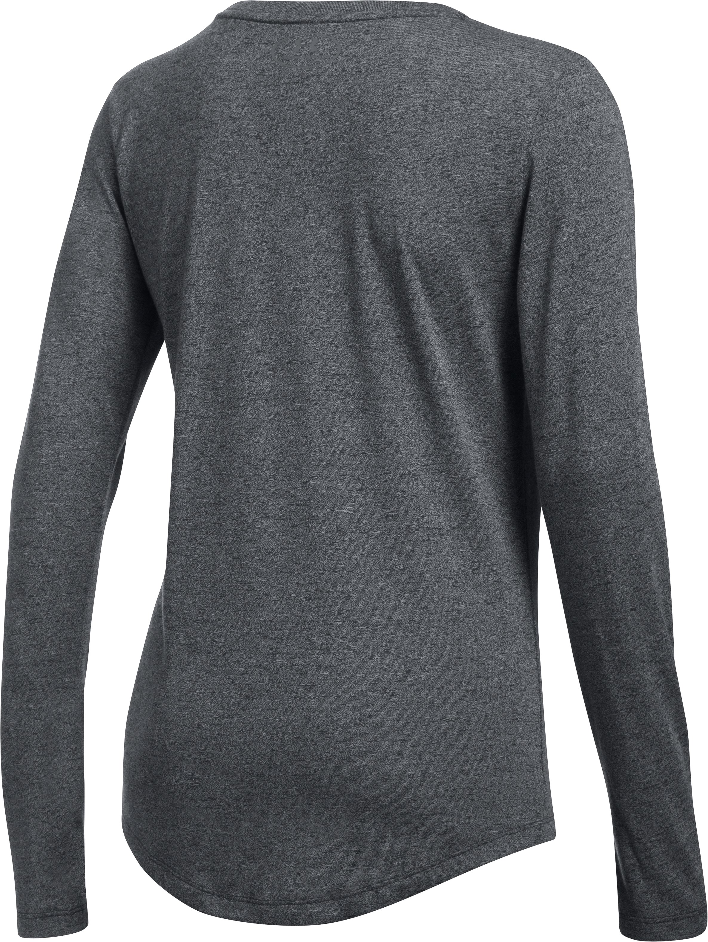 Women's UA Threadborne™ Twist Long Sleeve Crew, Black , undefined