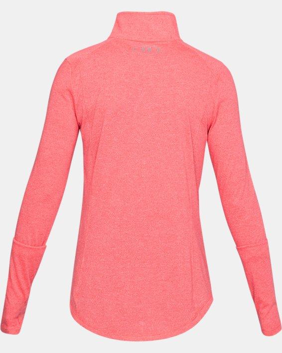 Women's UA Threadborne™ Twist ½ Zip, Red, pdpMainDesktop image number 4