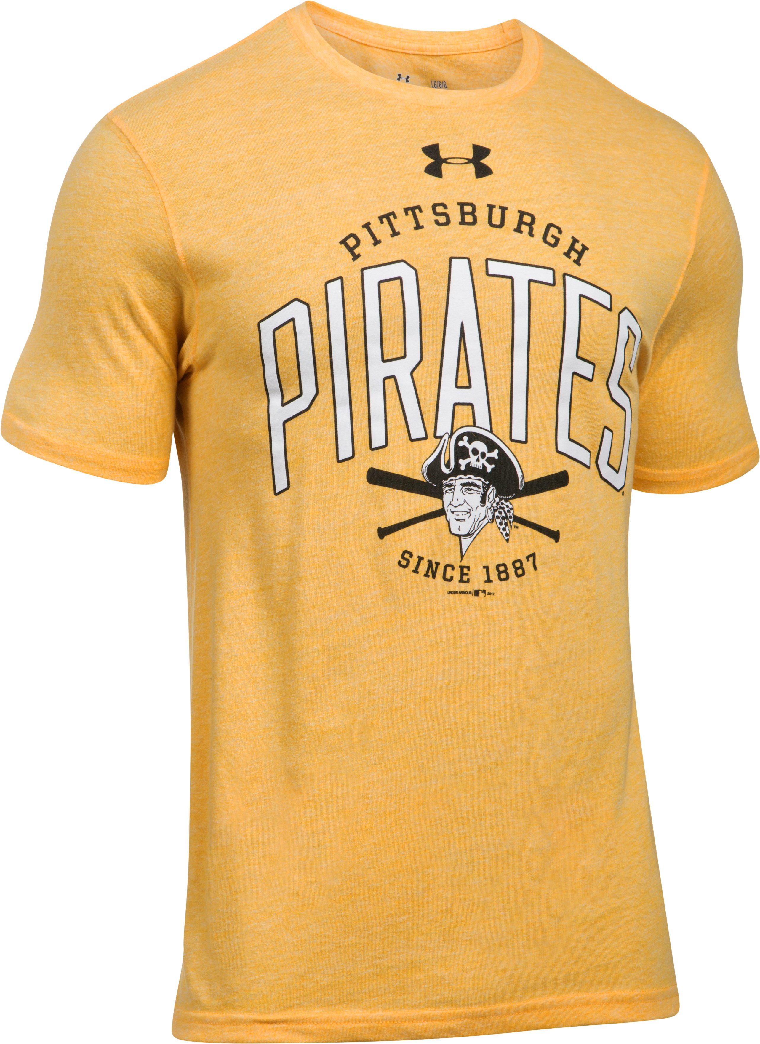 Men's Pittsburgh Pirates Tri-Blend T-Shirt, Steeltown Gold,