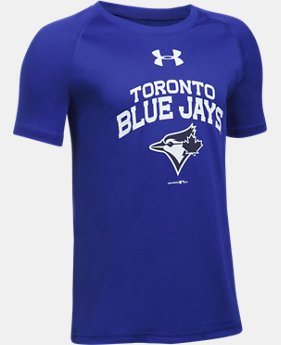 New Arrival  Boys' Toronto Blue Jays UA Tech™ Short Sleeve  1 Color $29.99