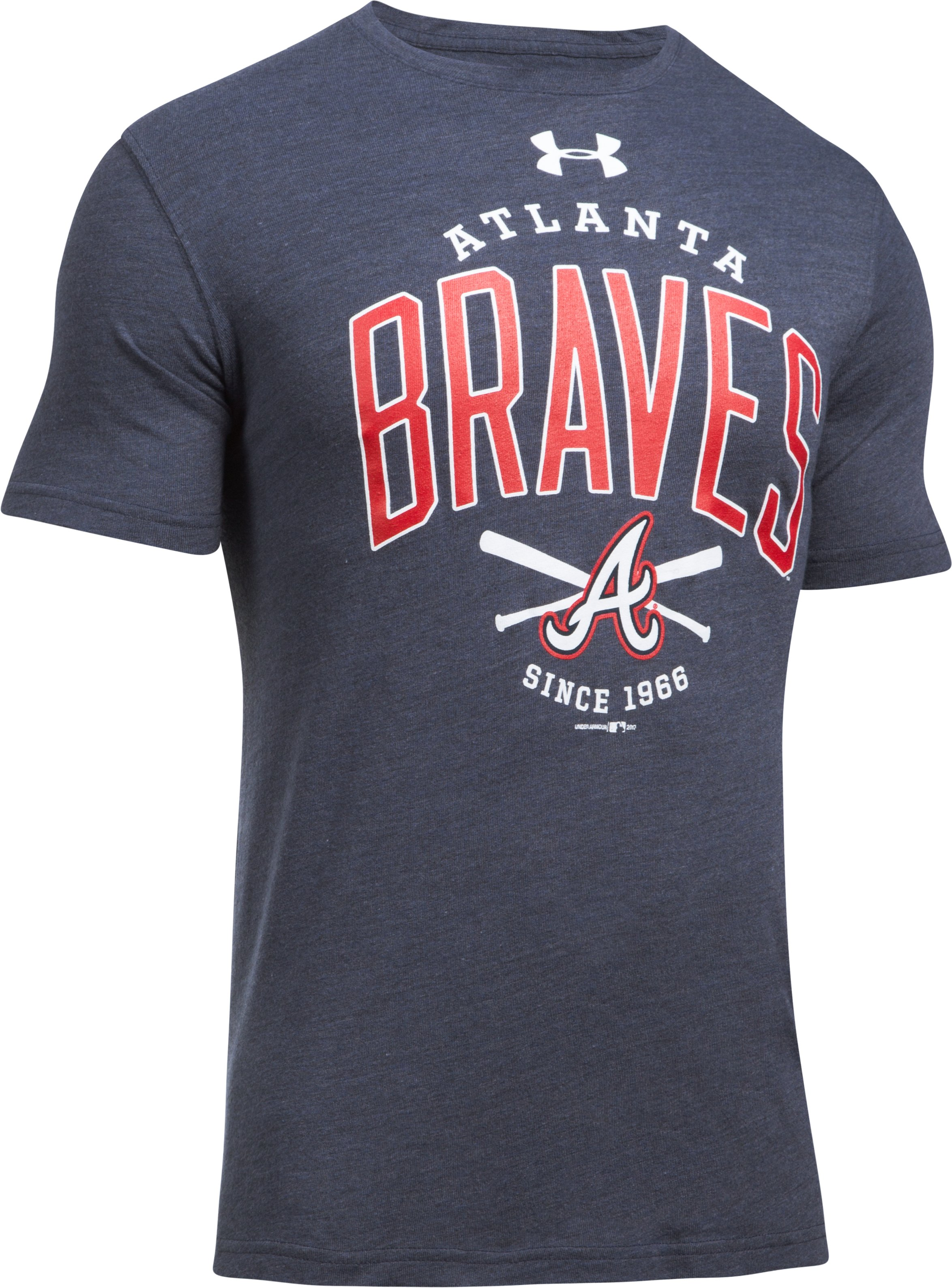 Men's Braves Tri-Blend T-Shirt, Midnight Navy,