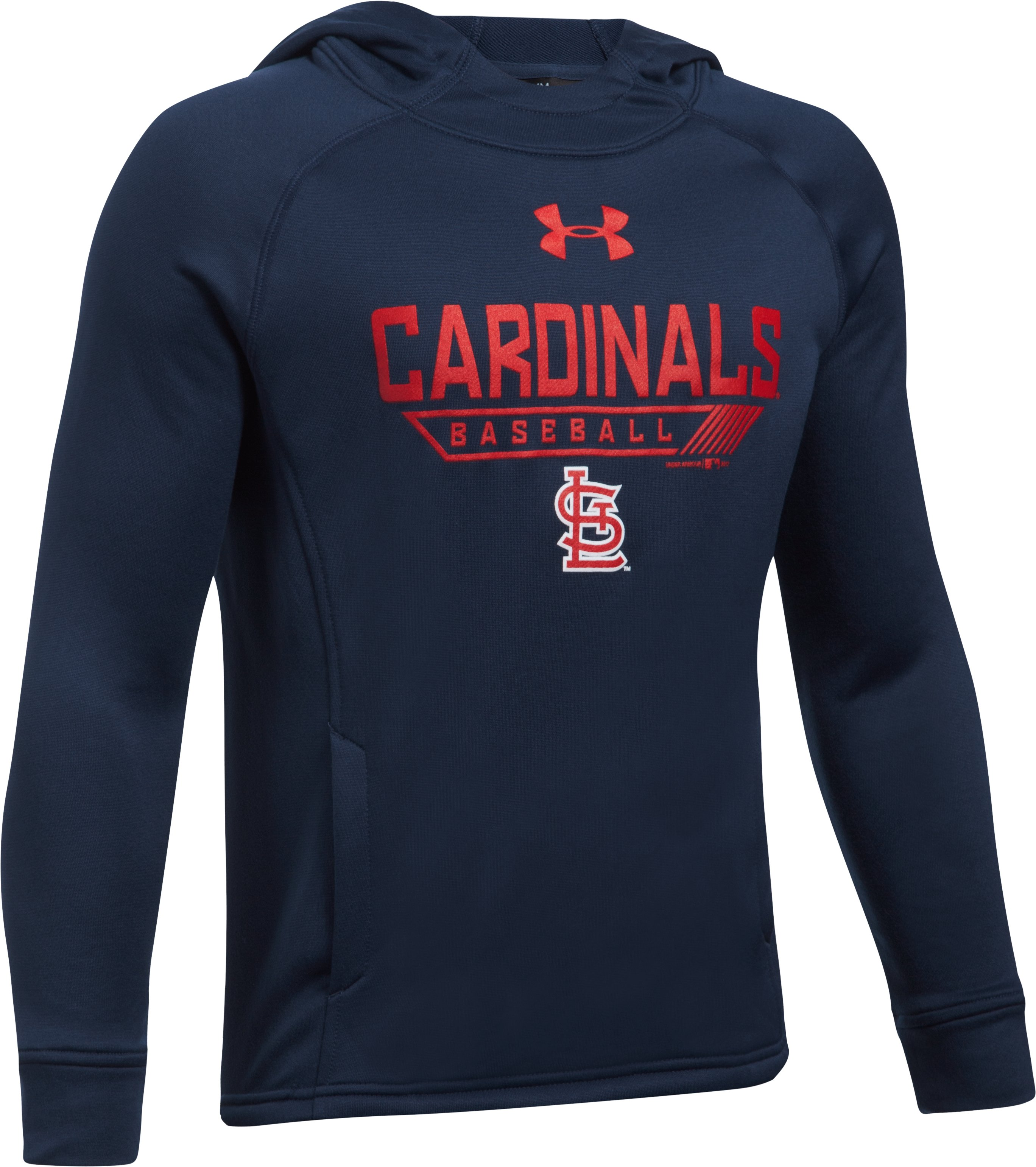 Boys' St. Louis Cardinals UA Tech™ Hoodie, Midnight Navy, undefined