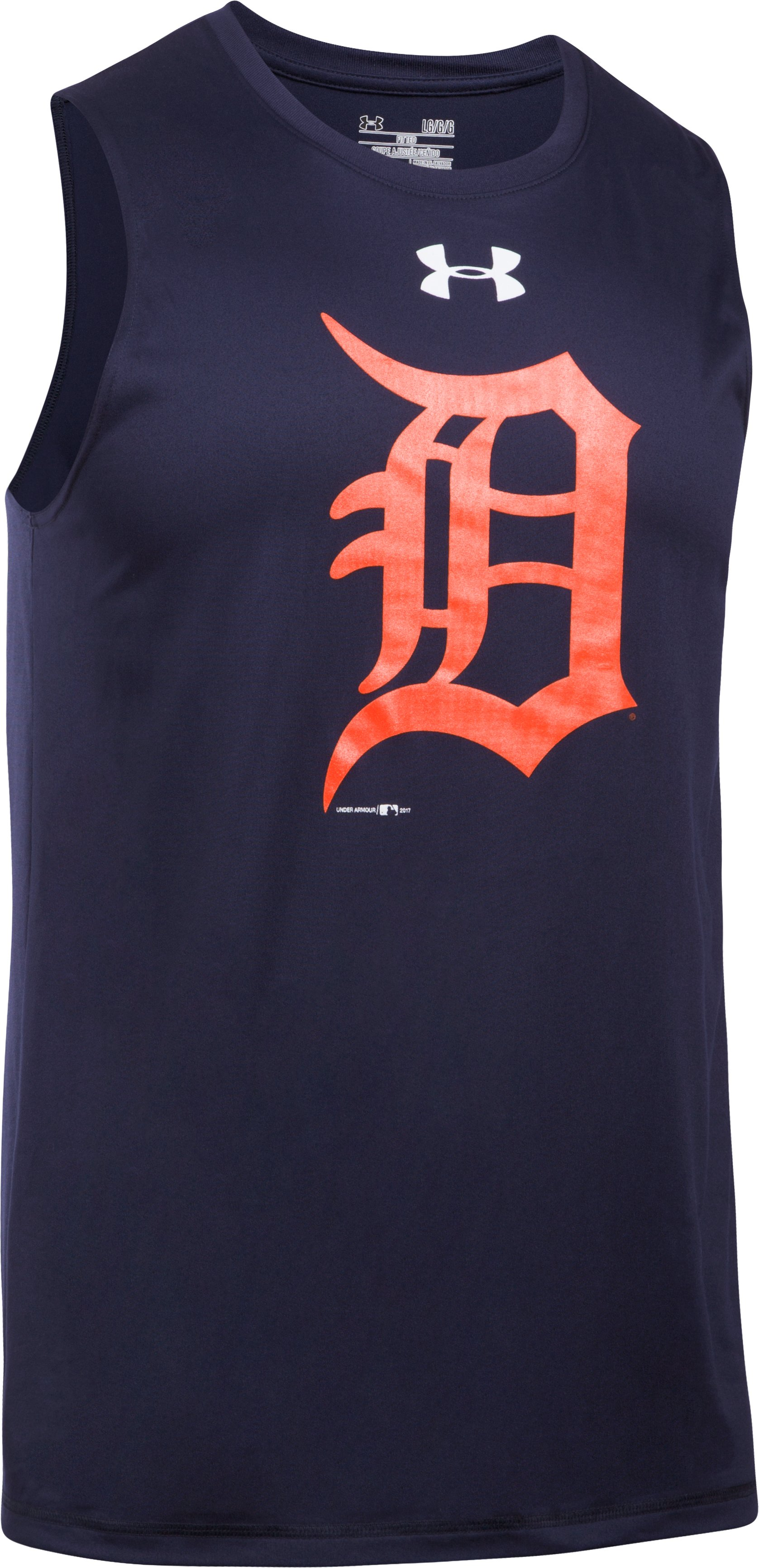 Men's Detroit Tigers UA Tech™ Tank, Midnight Navy, undefined