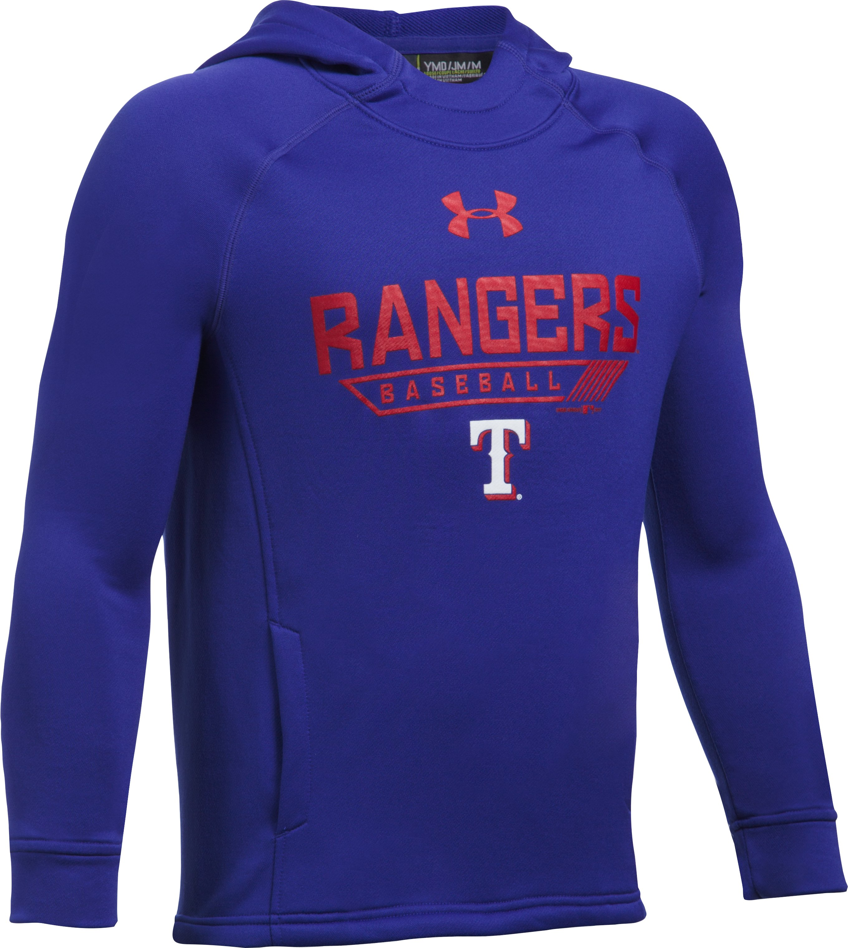 Boys' Texas Rangers UA Tech™ Hoodie, Royal, undefined