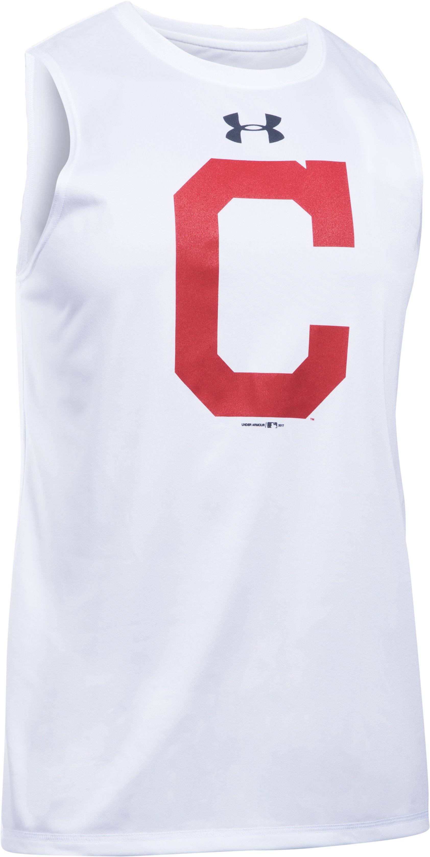 Men's Cleveland Indians UA Tech™ Tank, White, undefined