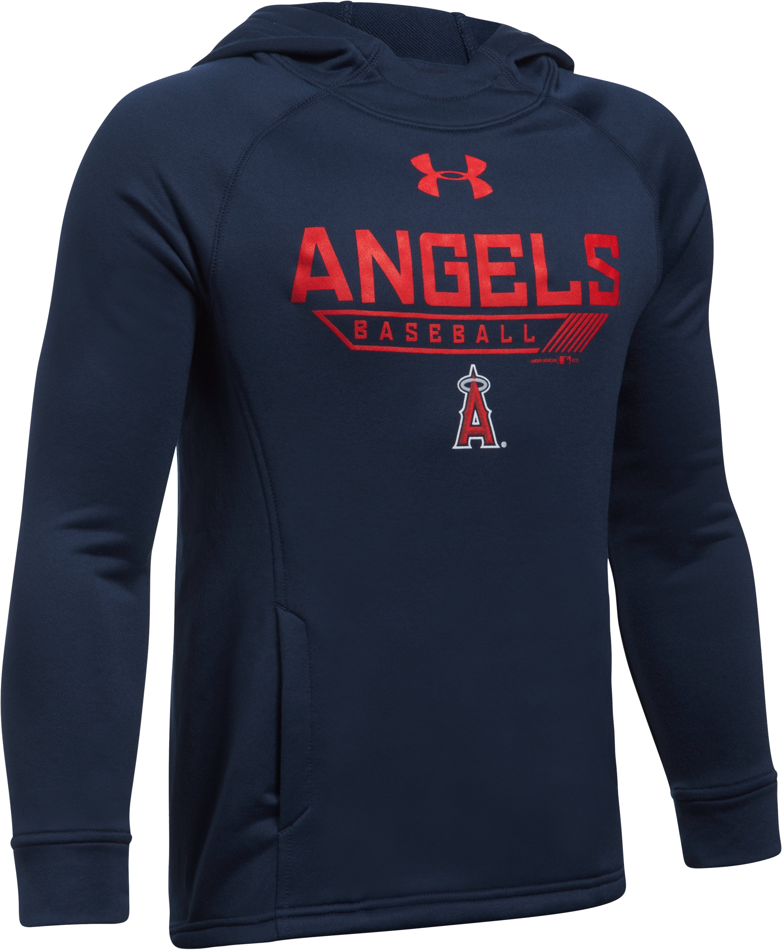 Boys' Los Angeles Angels UA Tech™ Hoodie, Midnight Navy