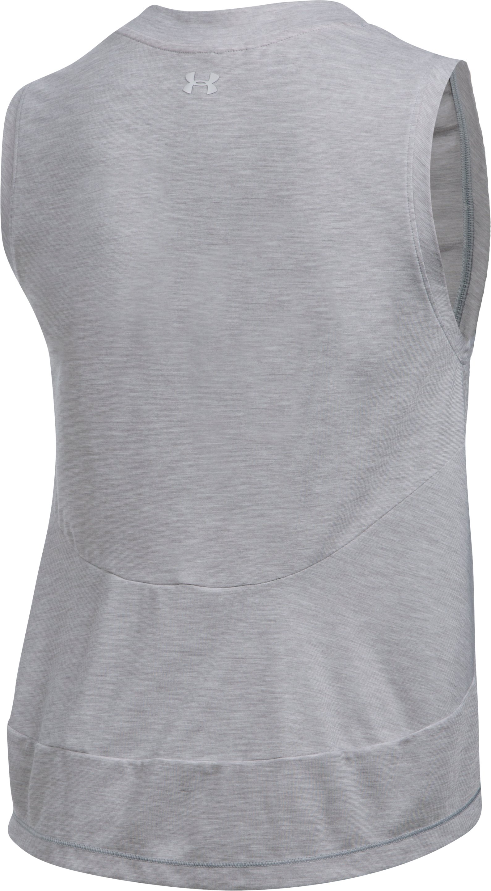 Women's UA Breathe Muscle Wordmark, True Gray Heather, undefined