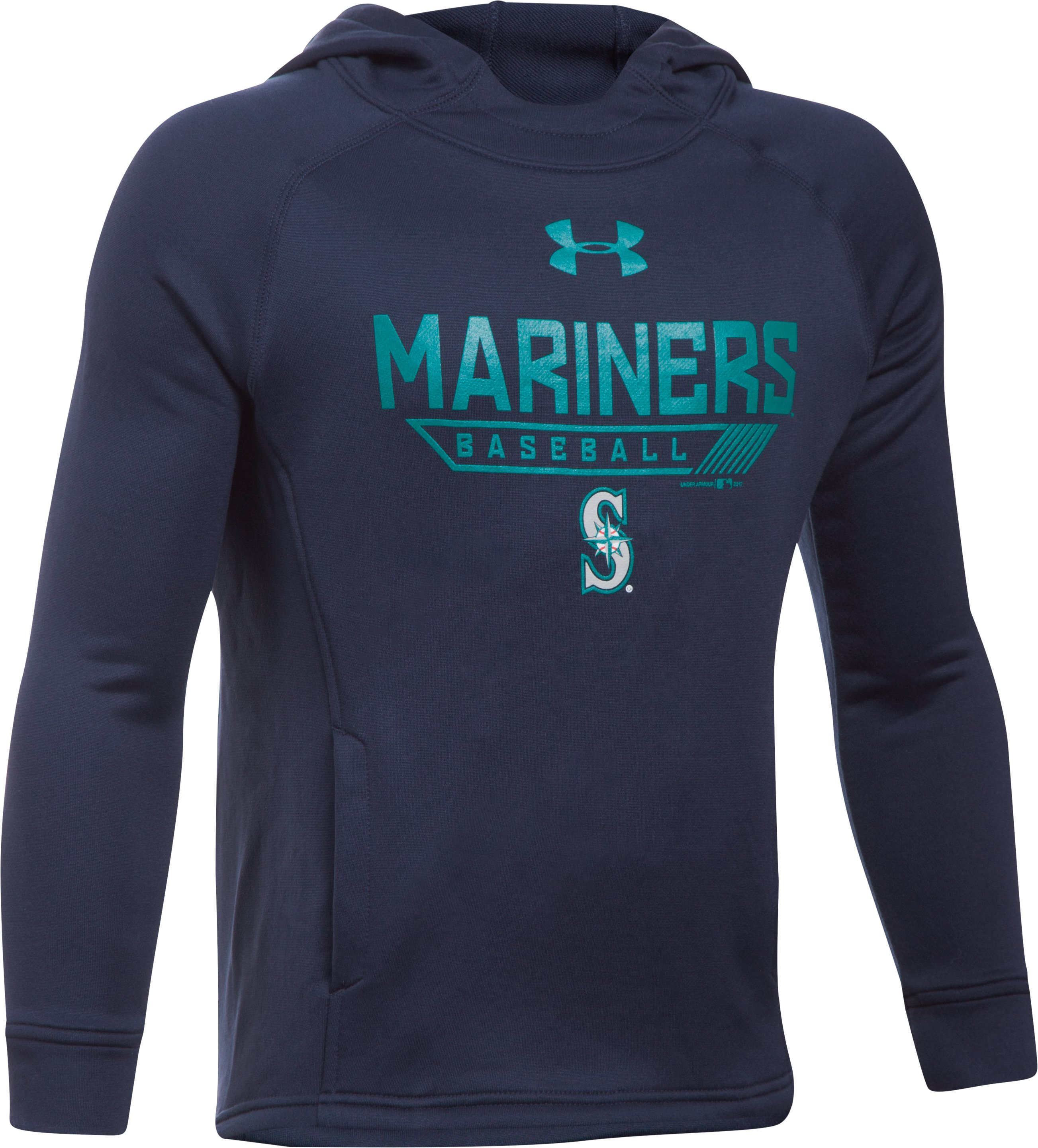 Boys' Seattle Mariners UA Tech™ Hoodie, Midnight Navy, zoomed image