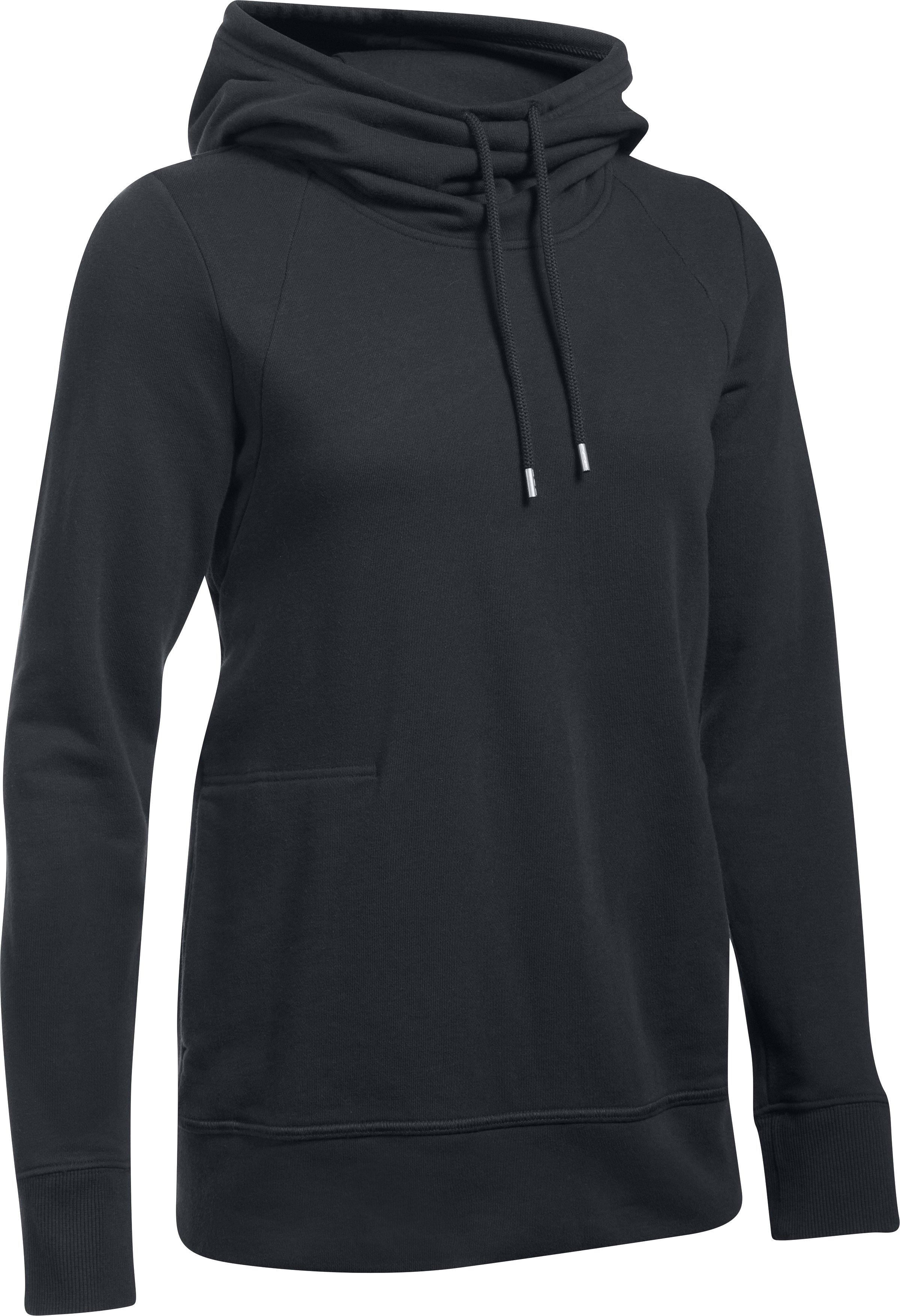 Women's UA French Terry Open Back Warm-Up, Black ,