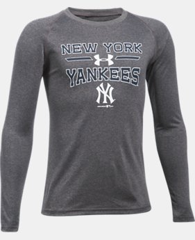 Boys' New York Yankees UA Tech™ Long Sleeve T-Shirt  1 Color $29.99