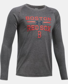 Boys' Boston Red Sox UA Tech™ Long Sleeve T-Shirt  1 Color $29.99