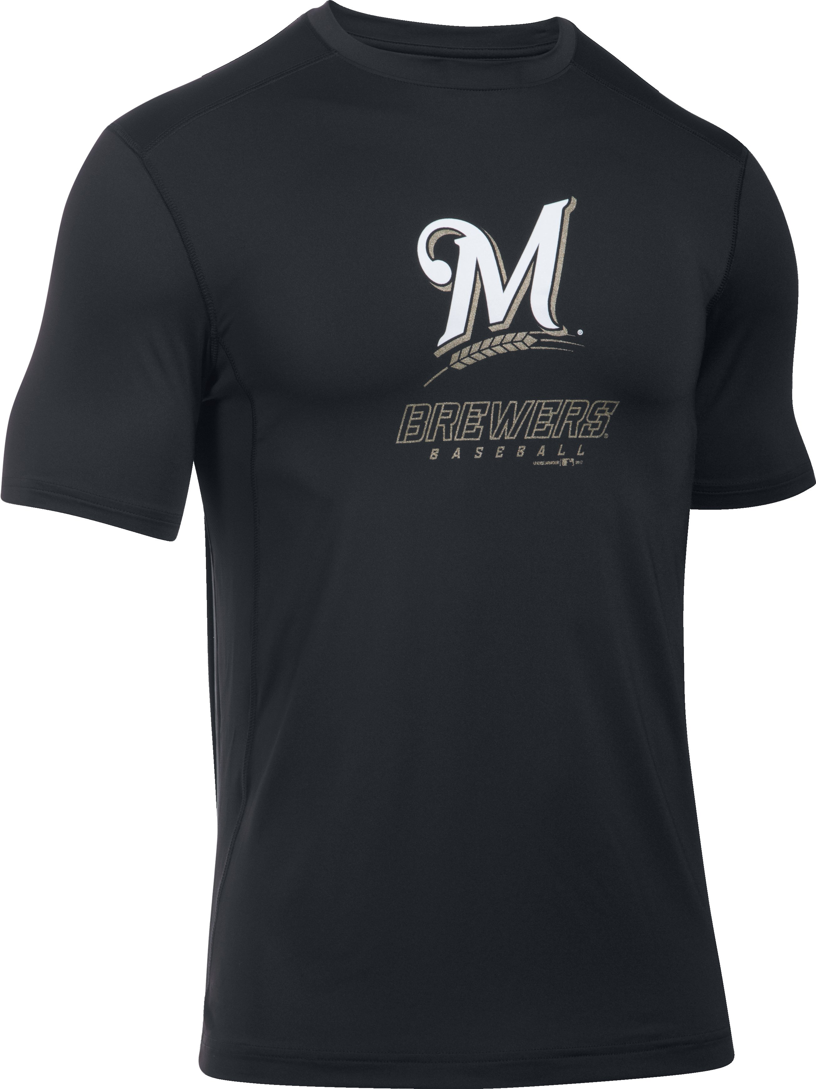 Men's Milwaukee Brewers UA Raid T-Shirt, Black