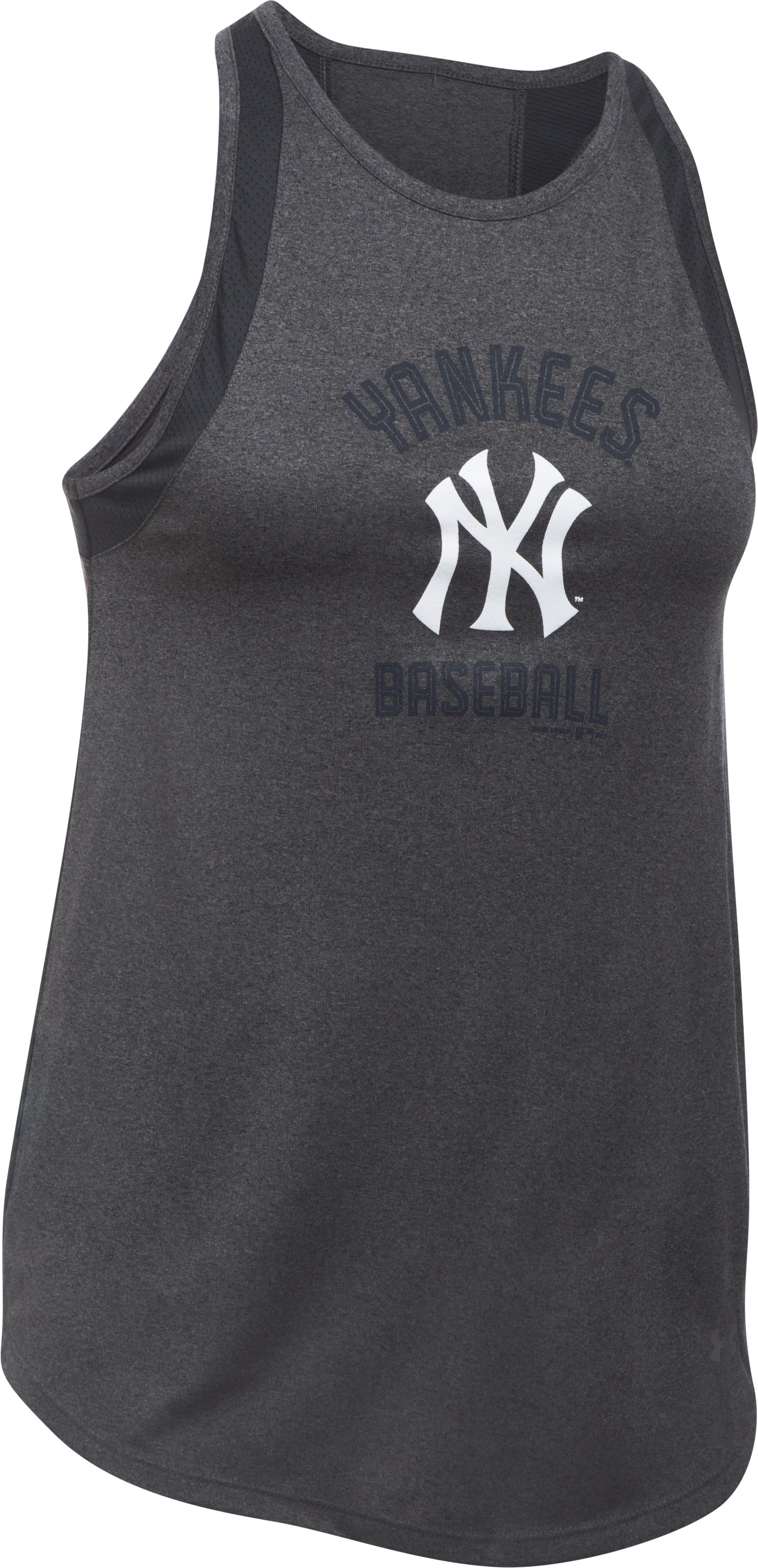Women's New York Yankees UA Tech™ Mesh Tank, Carbon Heather, undefined