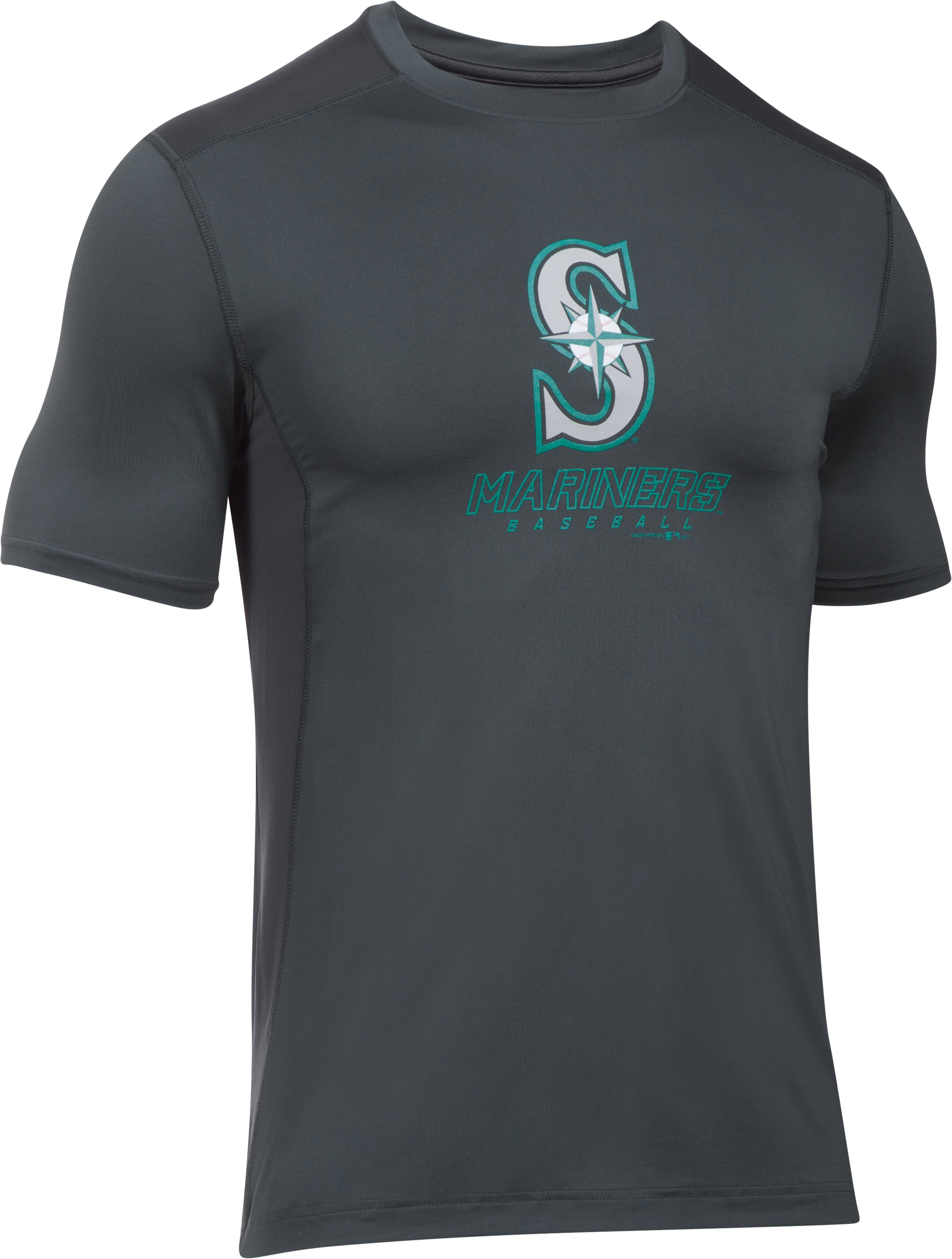 Men's Seattle Mariners UA Raid T-Shirt, STEALTH GRAY,