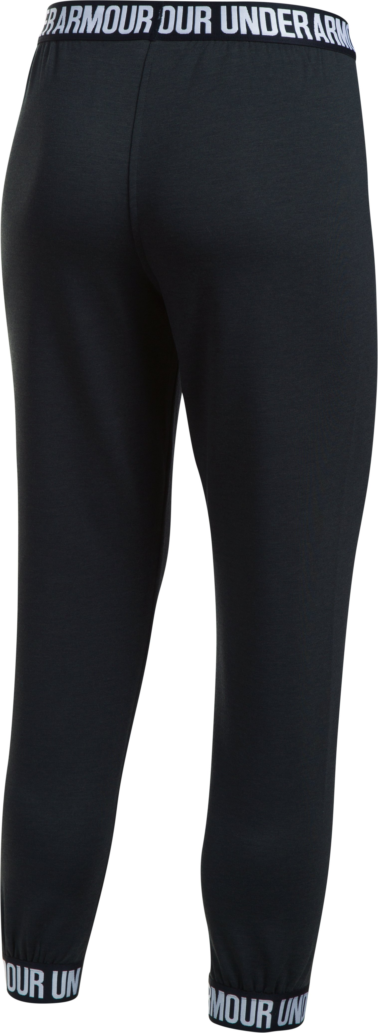Women's UA Featherweight Fleece Pants, Black ,