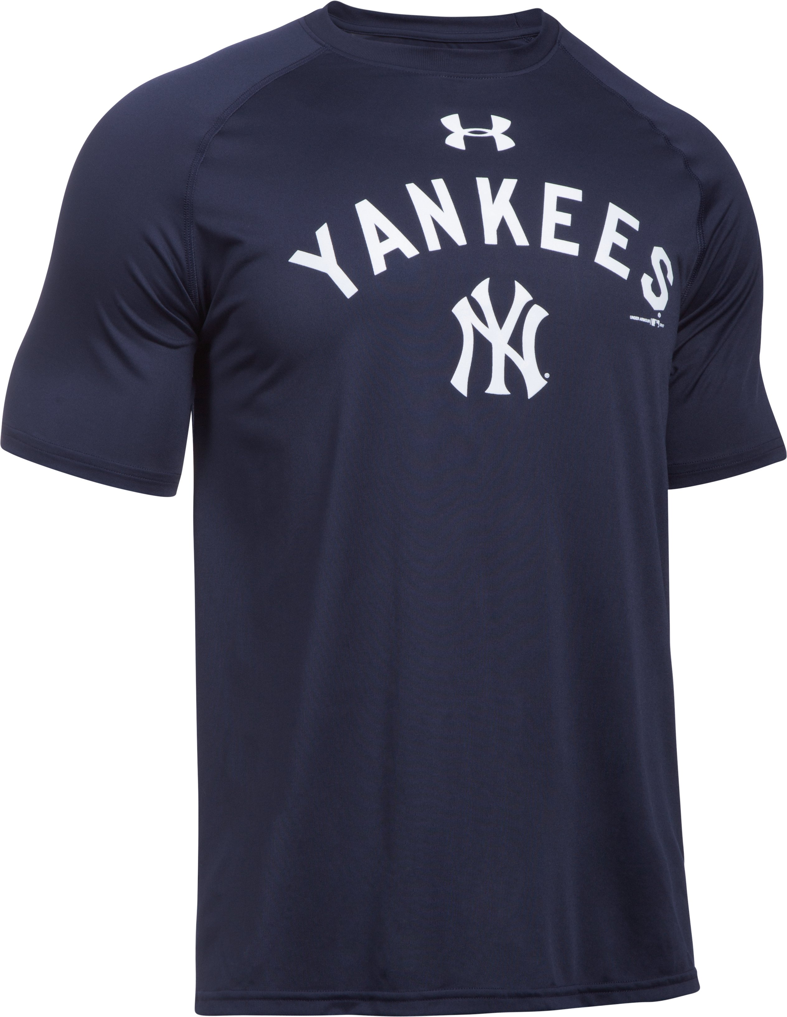 Men's New York Yankees UA Tech™ T-Shirt, Midnight Navy,