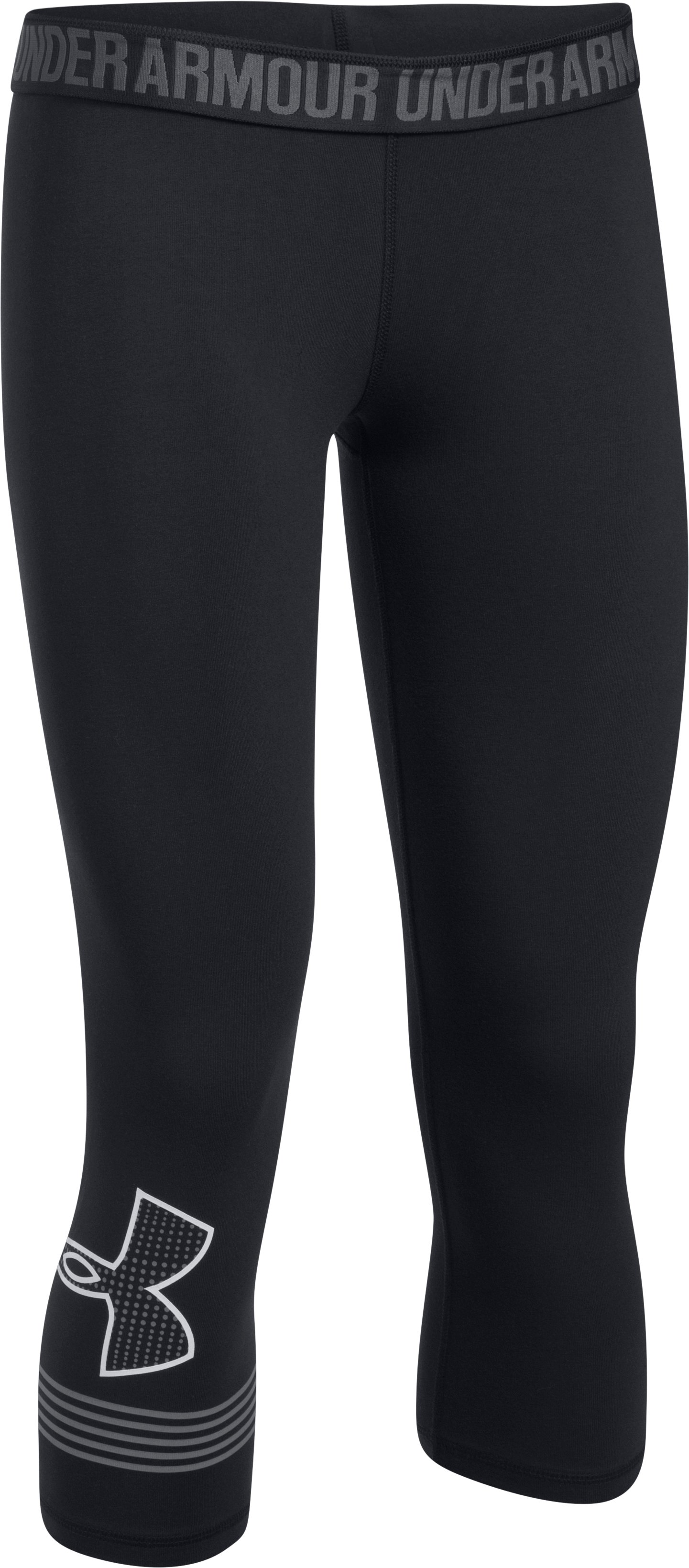 Women's UA Favorite Graphic Capris, Black