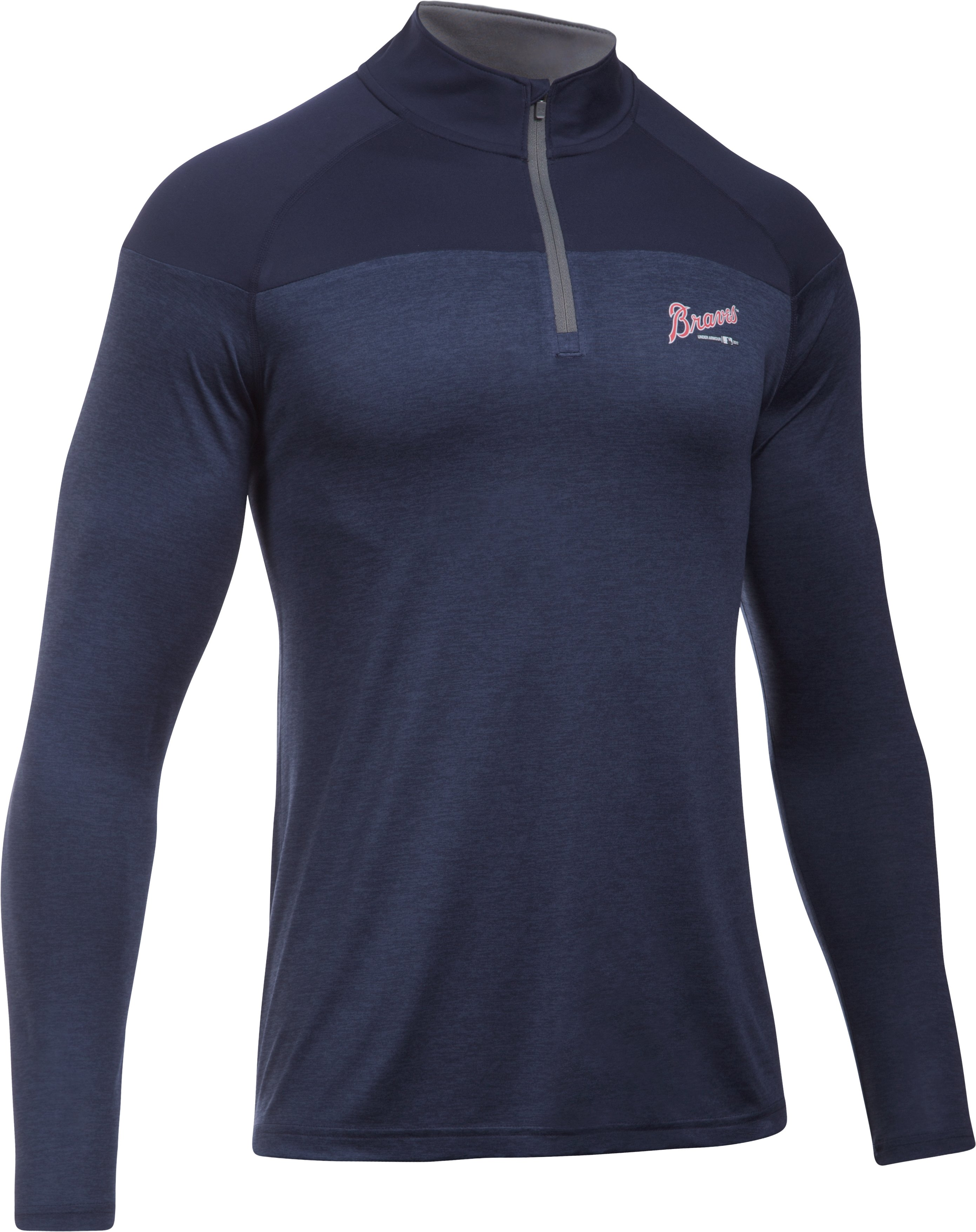 Men's Braves UA Tech™ ¼ Zip, Midnight Navy
