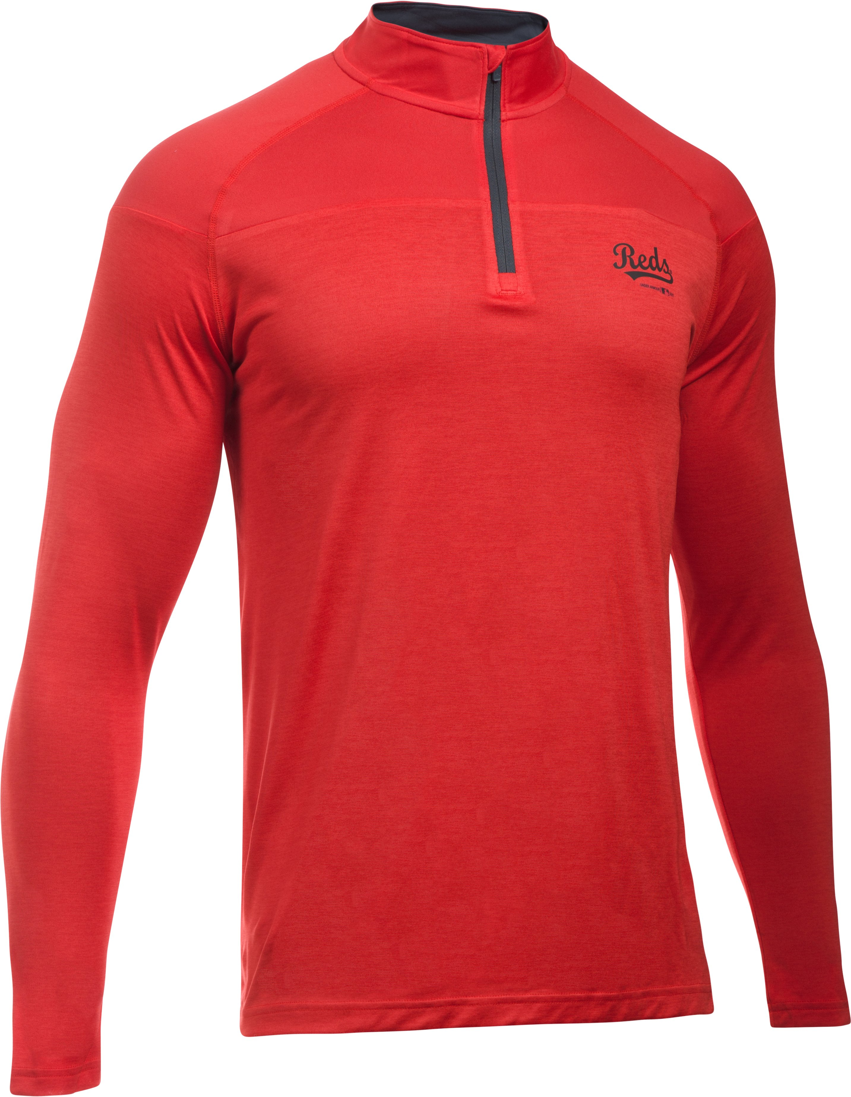 Men's Cincinnati Reds UA Tech™ ¼ Zip, Red, undefined