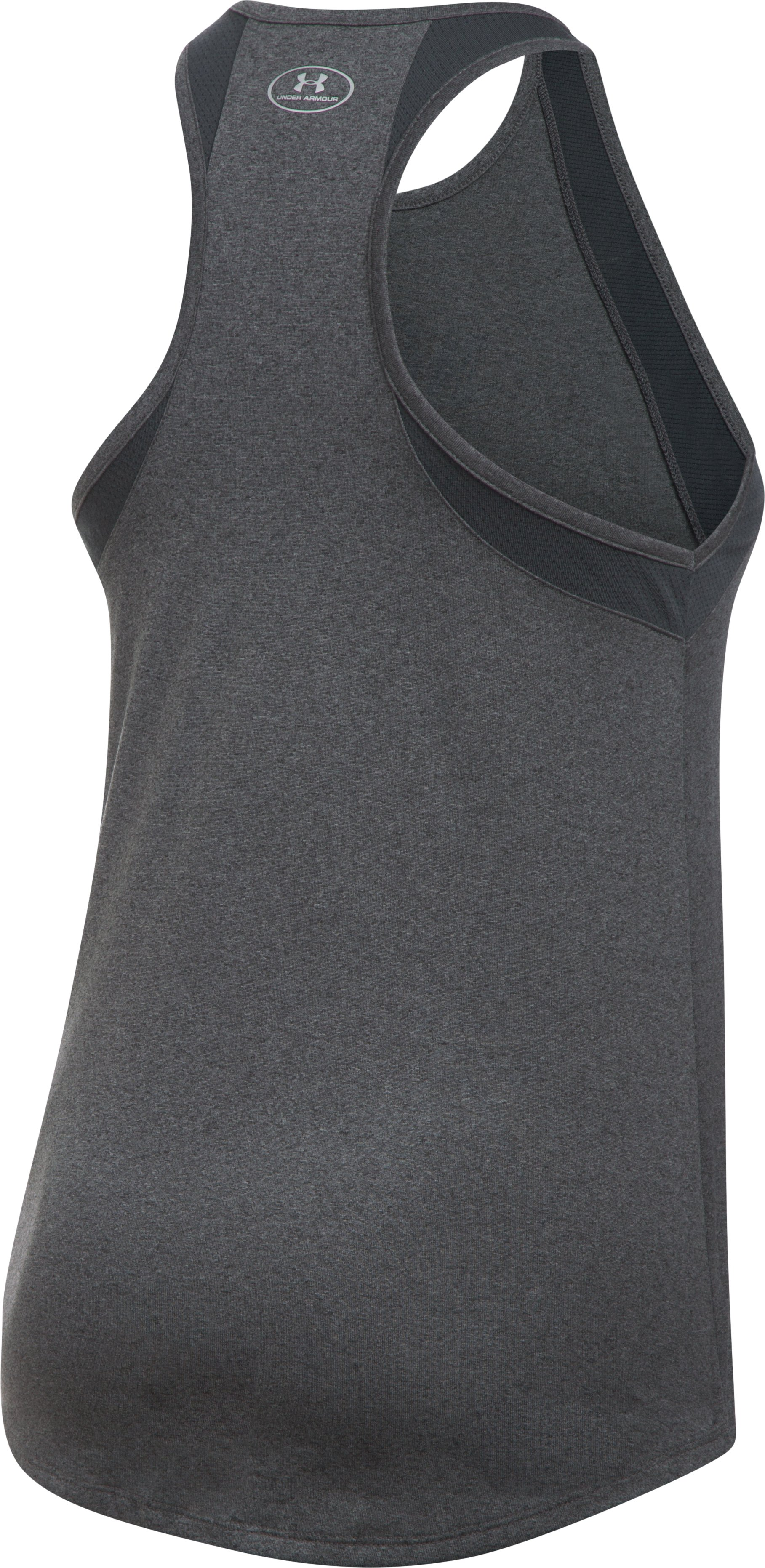 Women's Cleveland Indians UA Tech™ Mesh Tank, Carbon Heather,