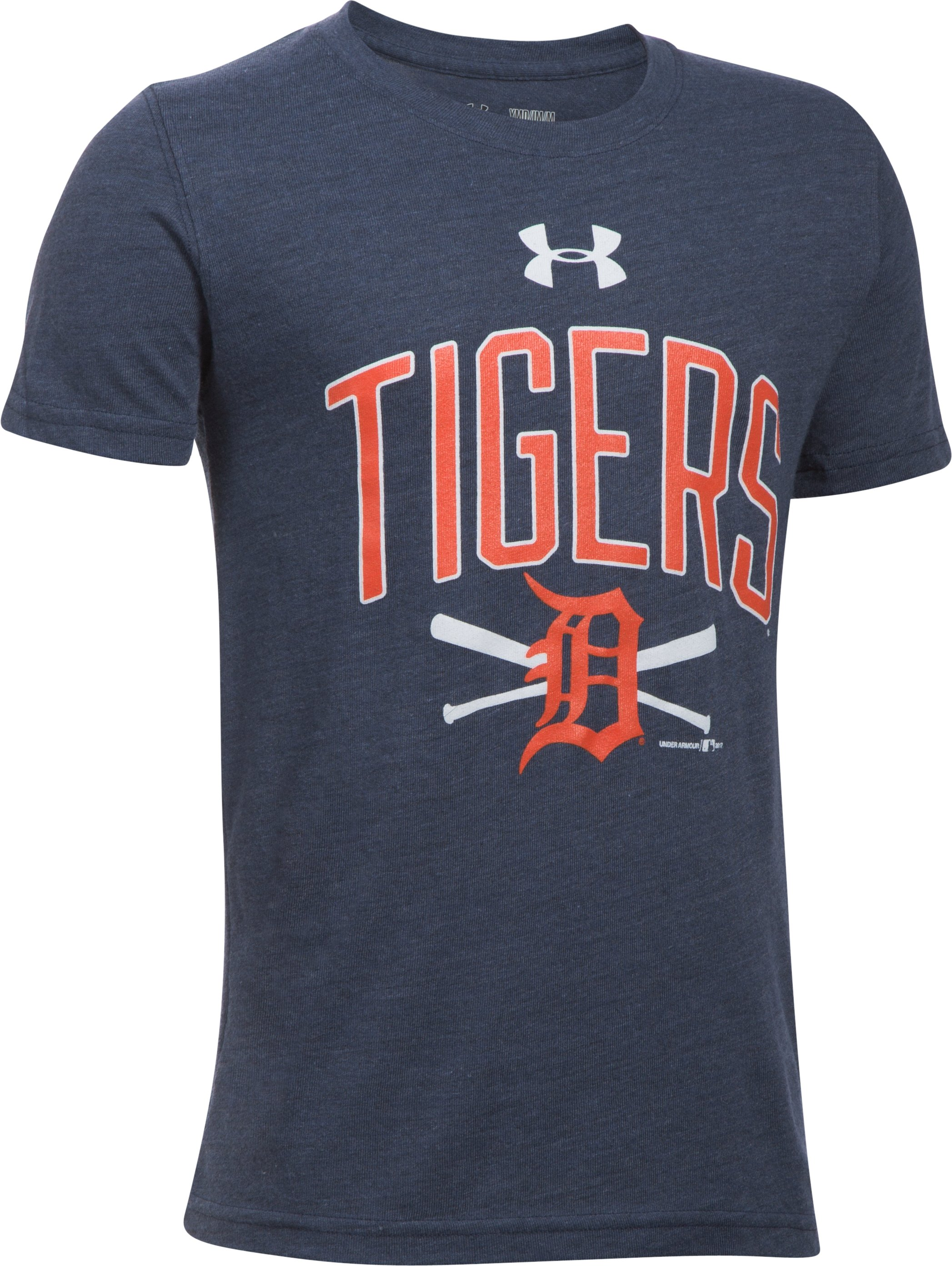 Boys' Detroit Tigers Tri-Blend T-Shirt, Midnight Navy