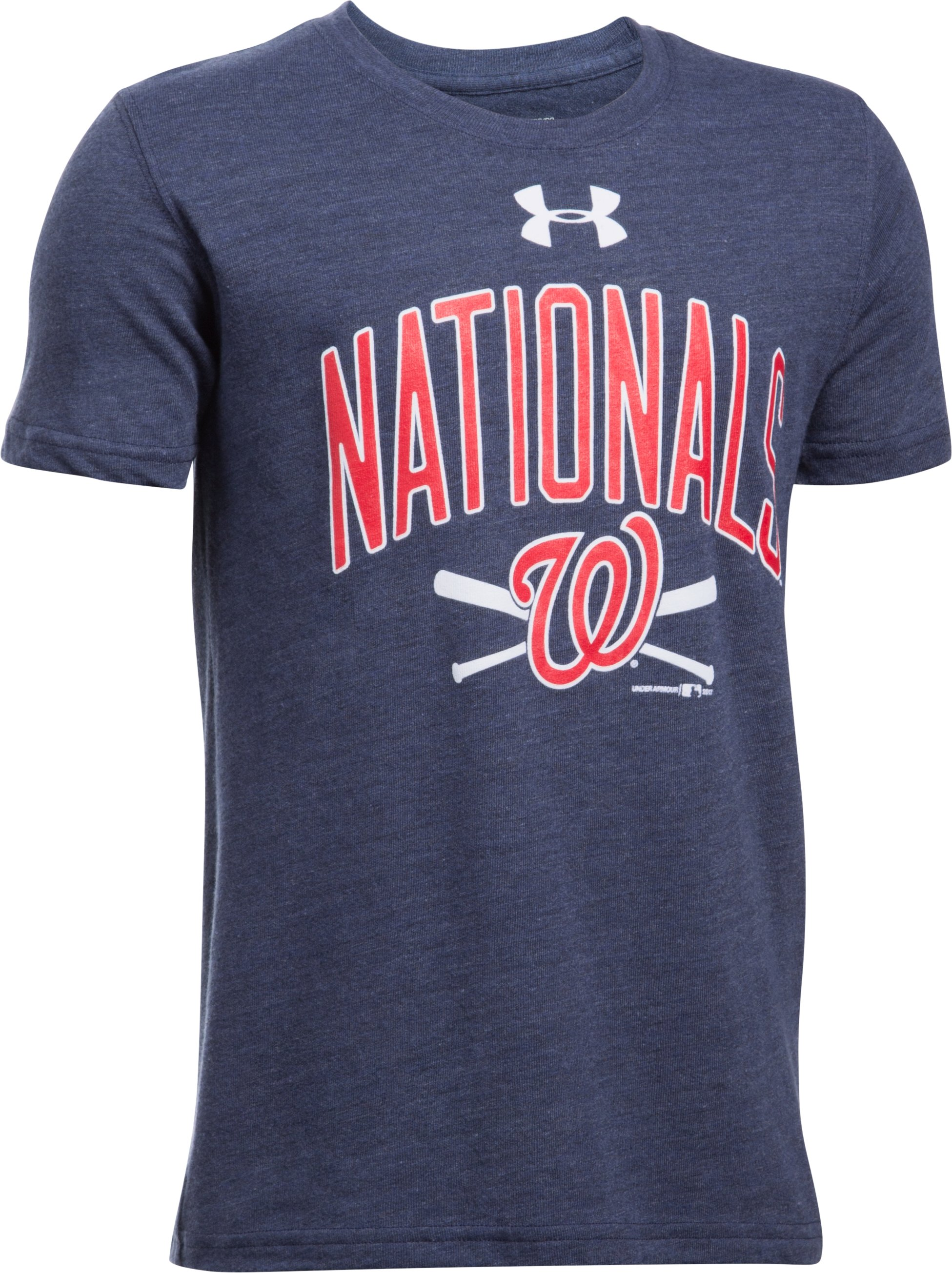 Boys' Washington Nationals Tri-Blend T-Shirt, Midnight Navy, undefined