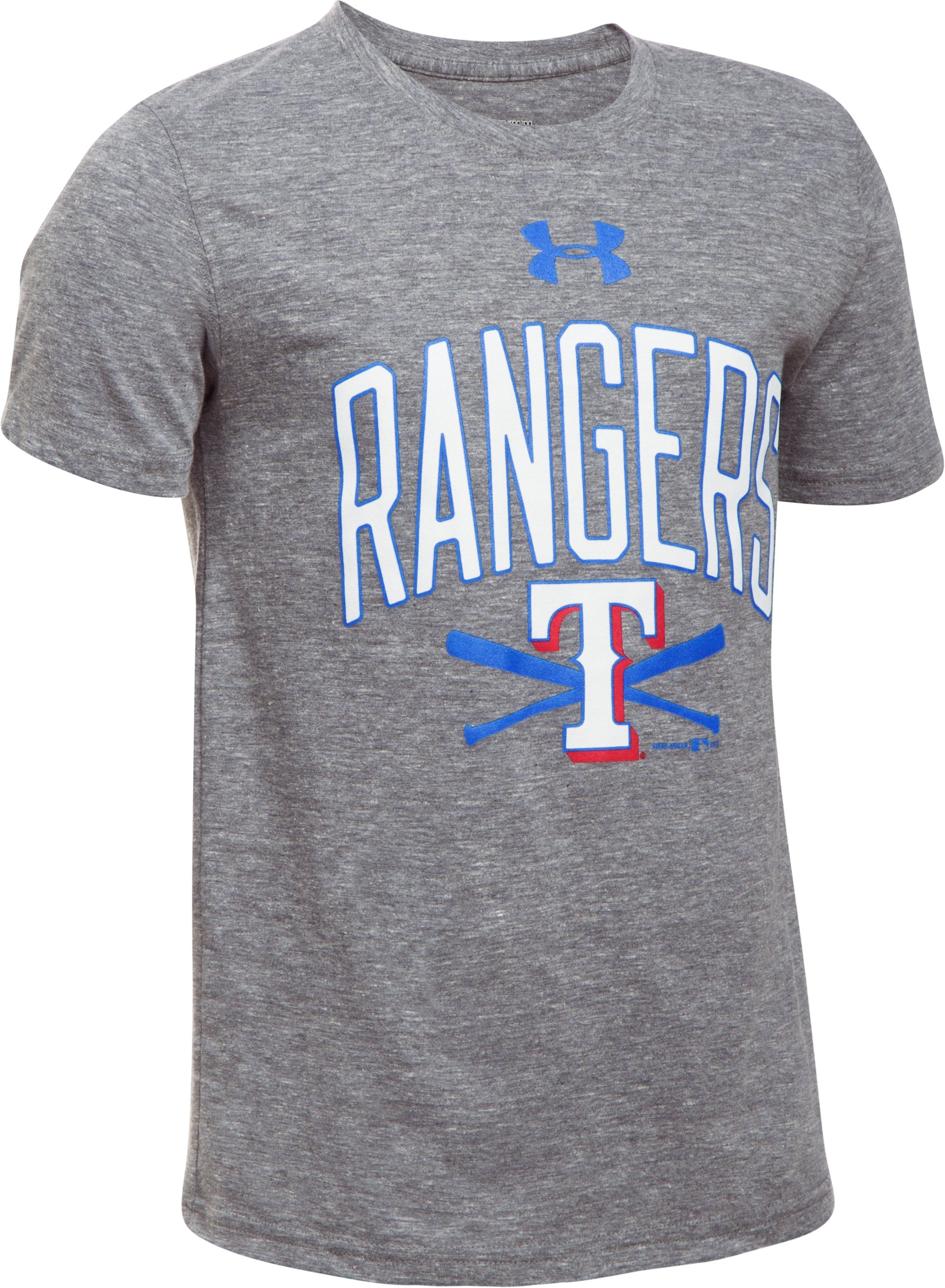 Boys' Texas Rangers Tri-Blend T-Shirt, True Gray Heather, undefined