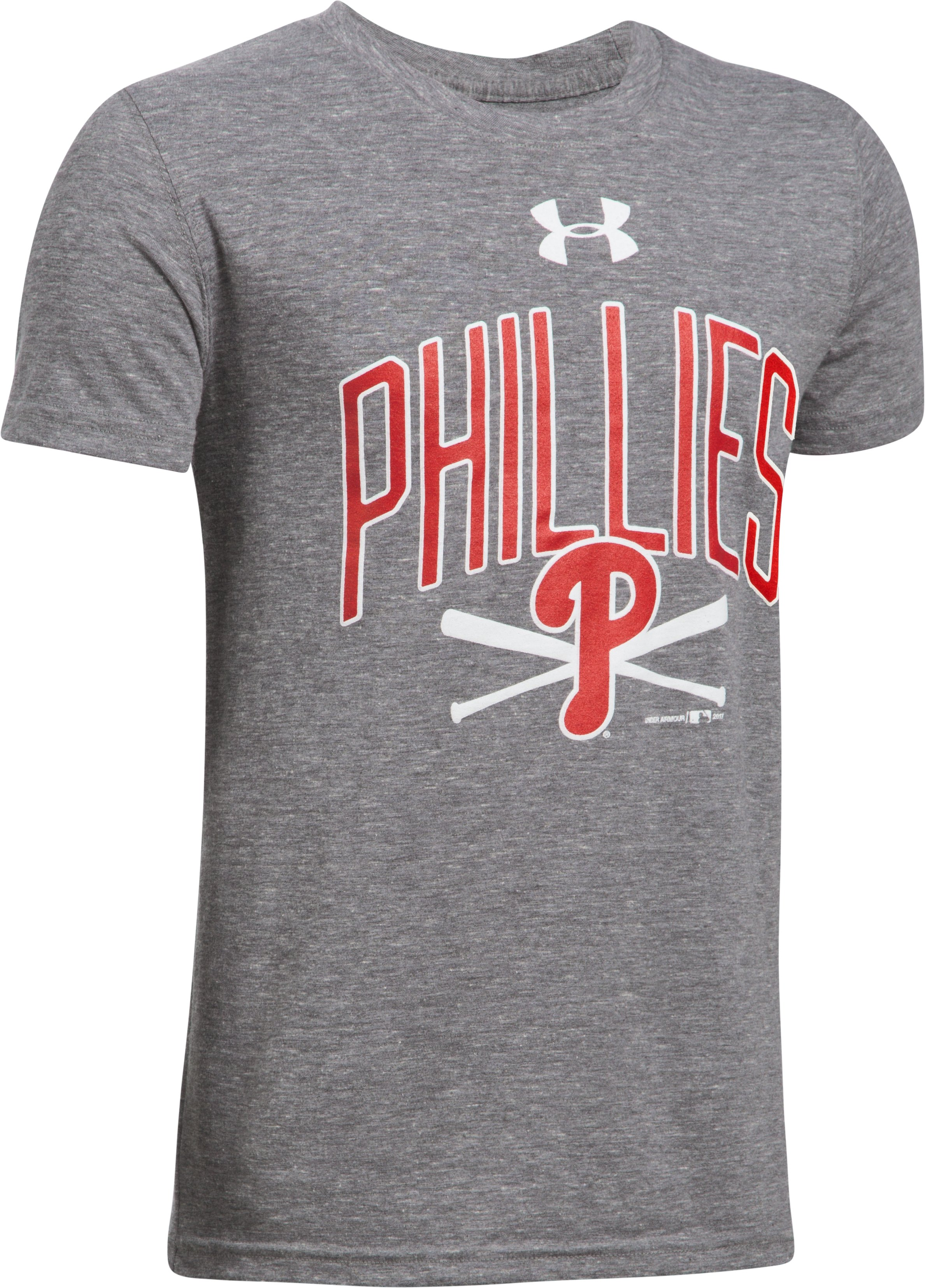 Boys' Philadelphia Phillies Tri-Blend T-Shirt, True Gray Heather, undefined