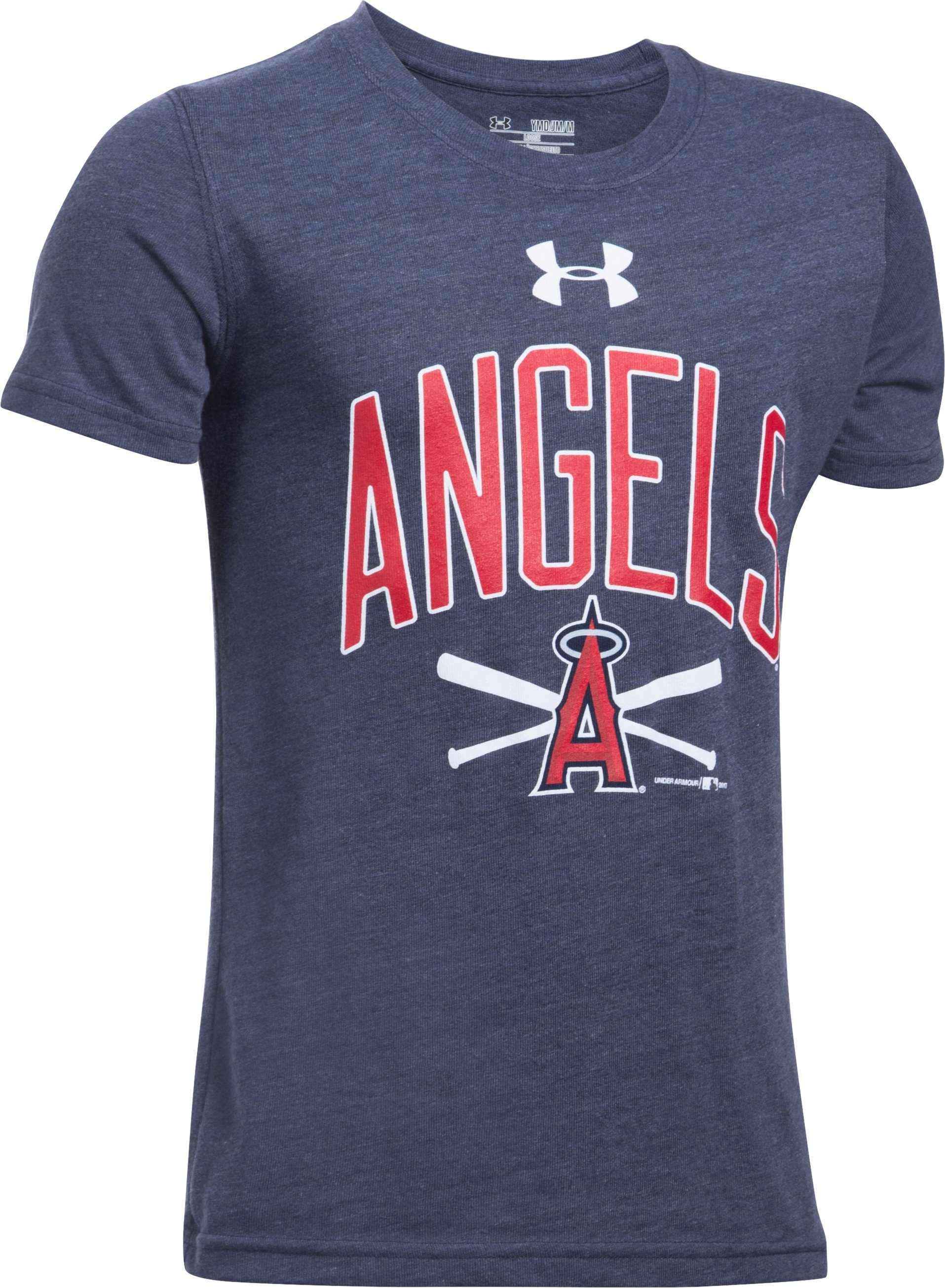 Boys' Los Angeles Angels Tri-Blend T-Shirt, Midnight Navy, undefined