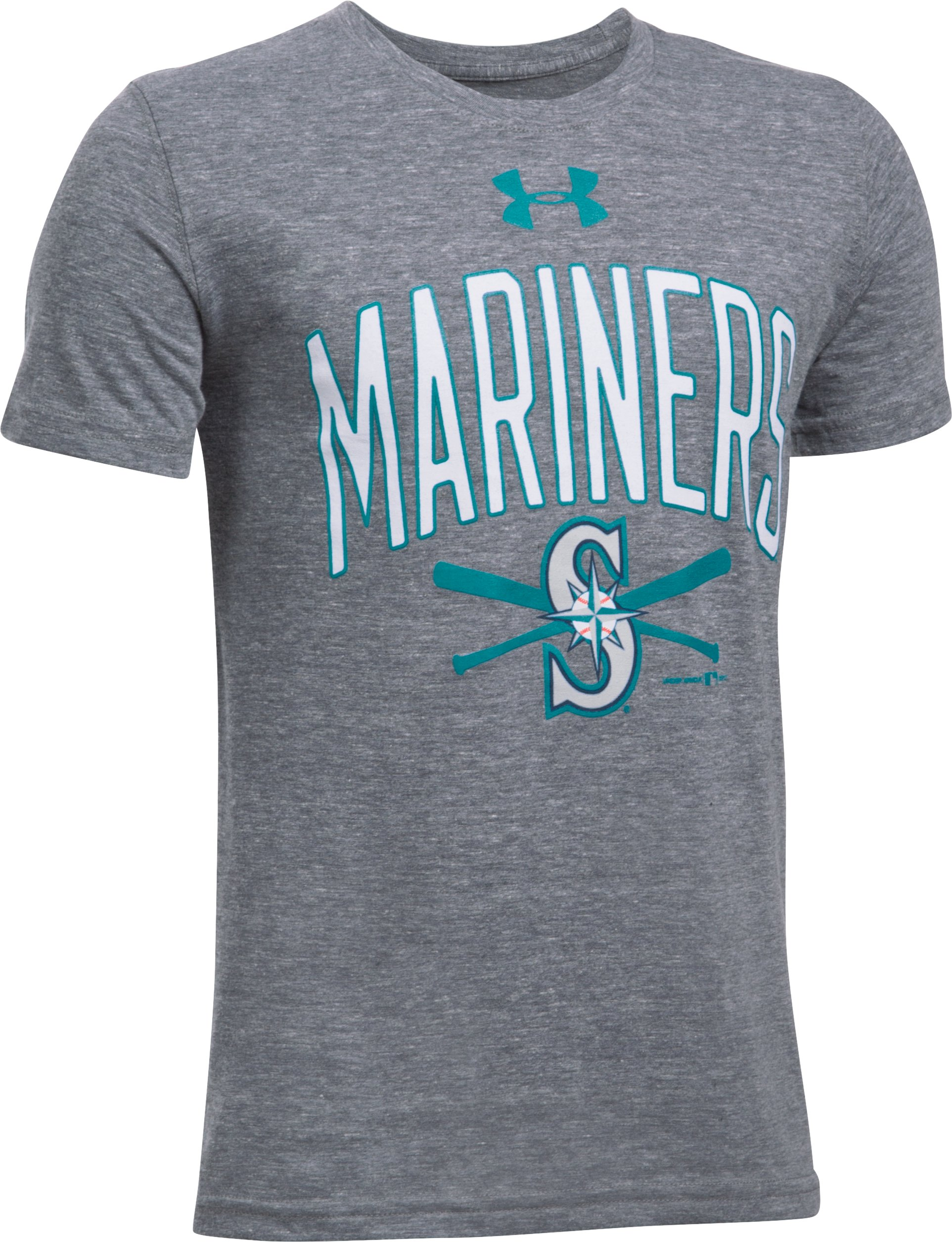 Boys' Seattle Mariners Tri-Blend T-Shirt, True Gray Heather,