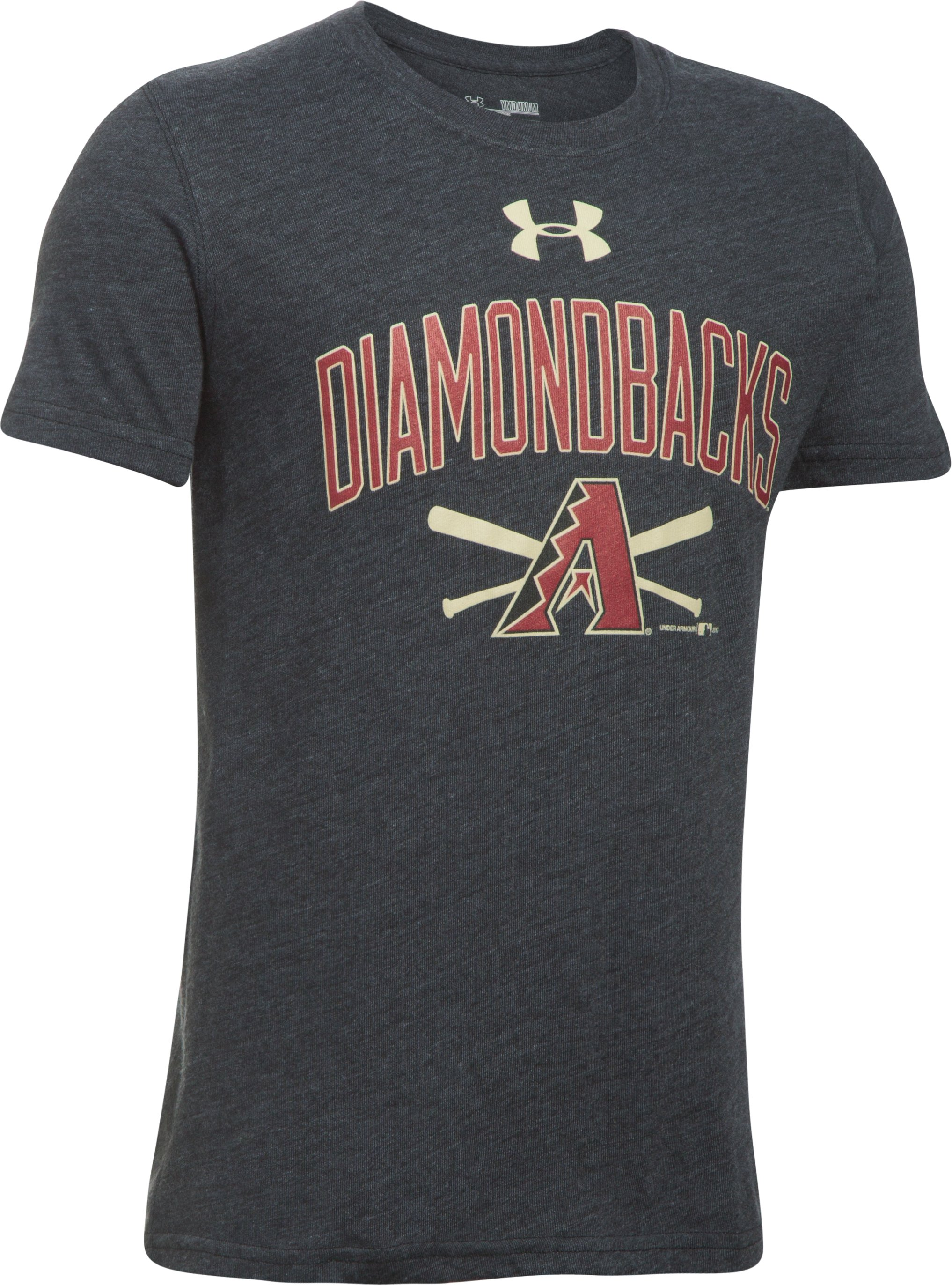 Boys' Arizona Diamondbacks Tri-Blend T-Shirt, Black ,