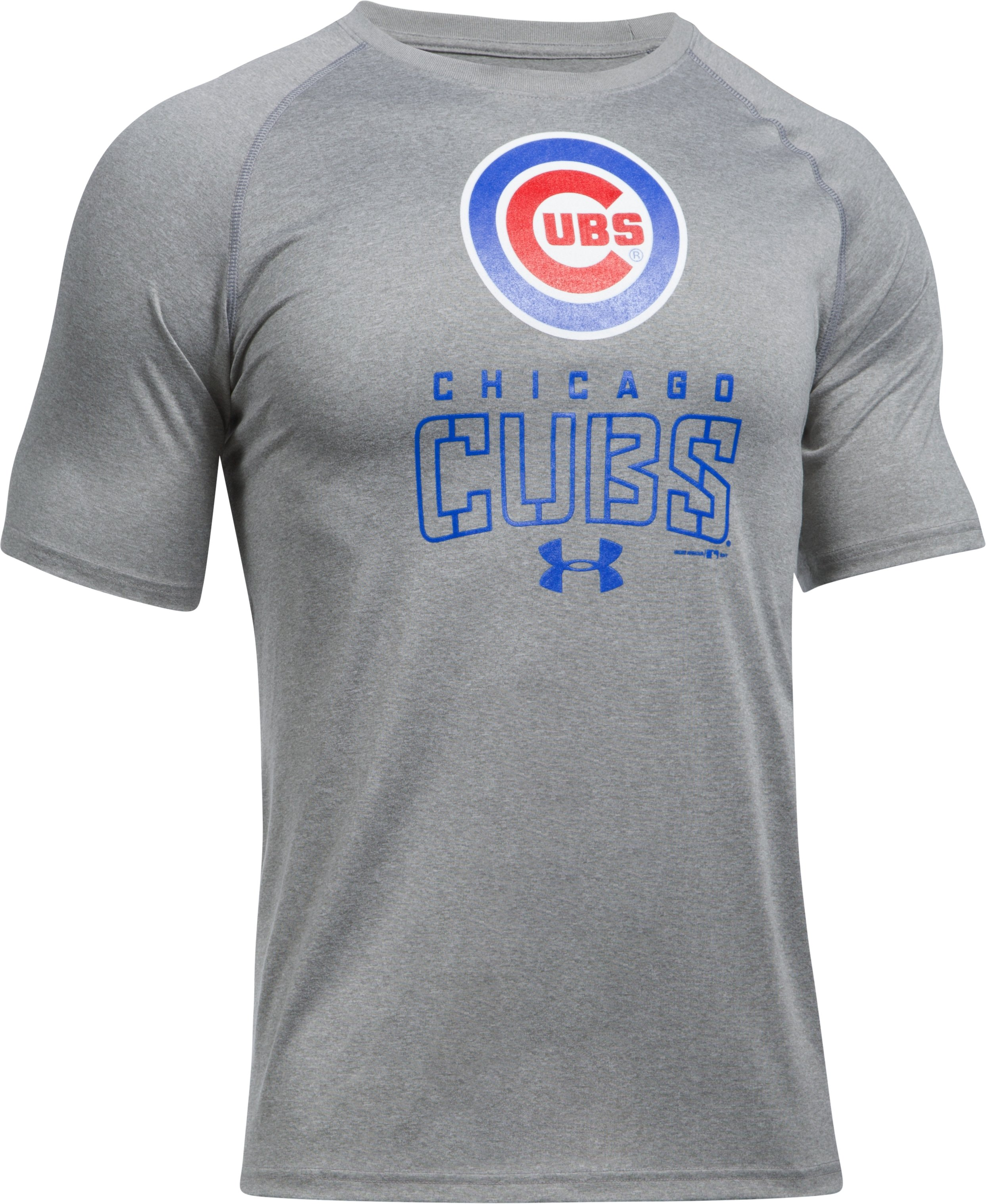 Men's Chicago Cubs UA Tech™ T-Shirt, True Gray Heather,