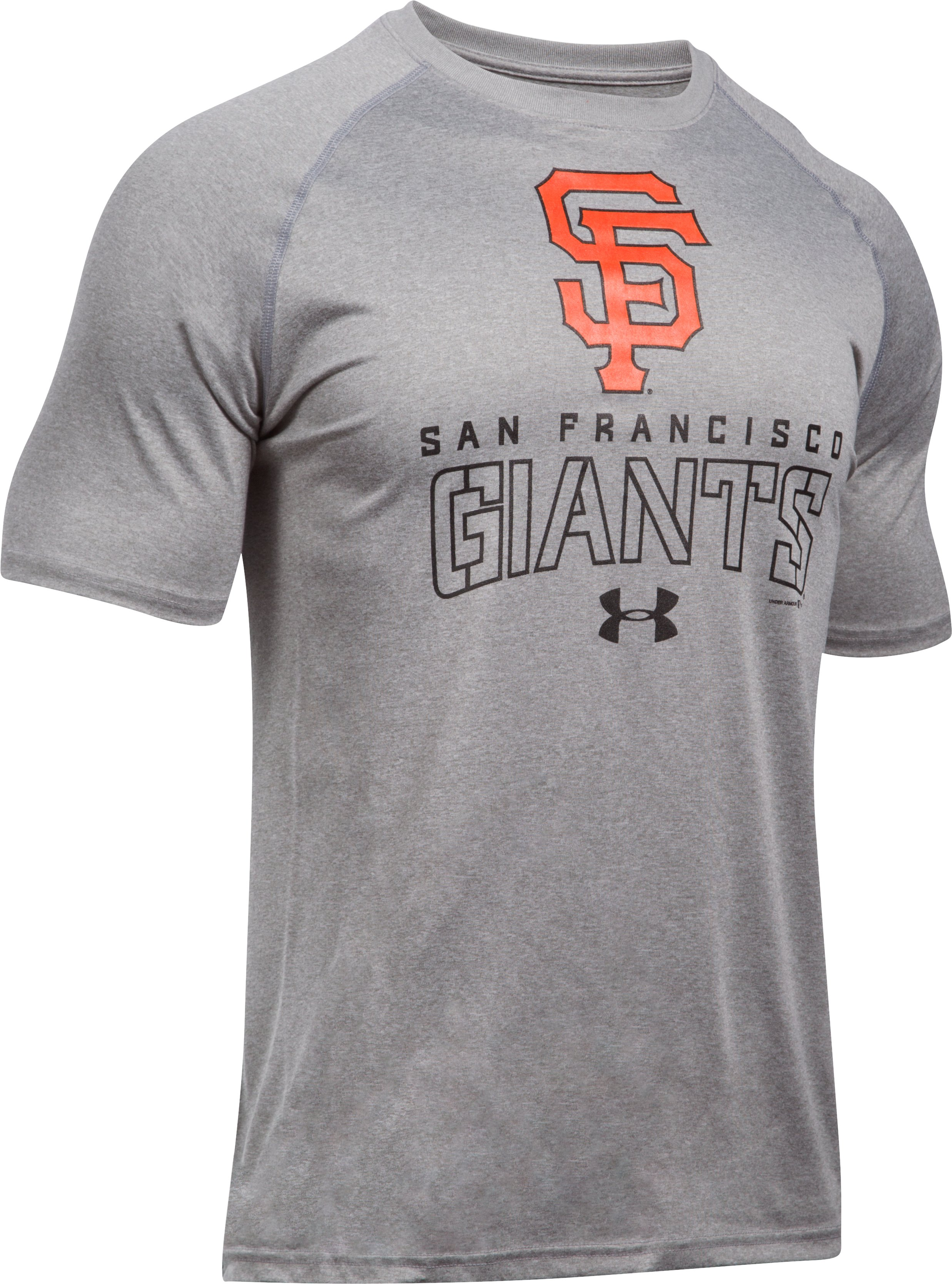 Men's San Francisco Giants UA Tech™ T-Shirt, True Gray Heather,