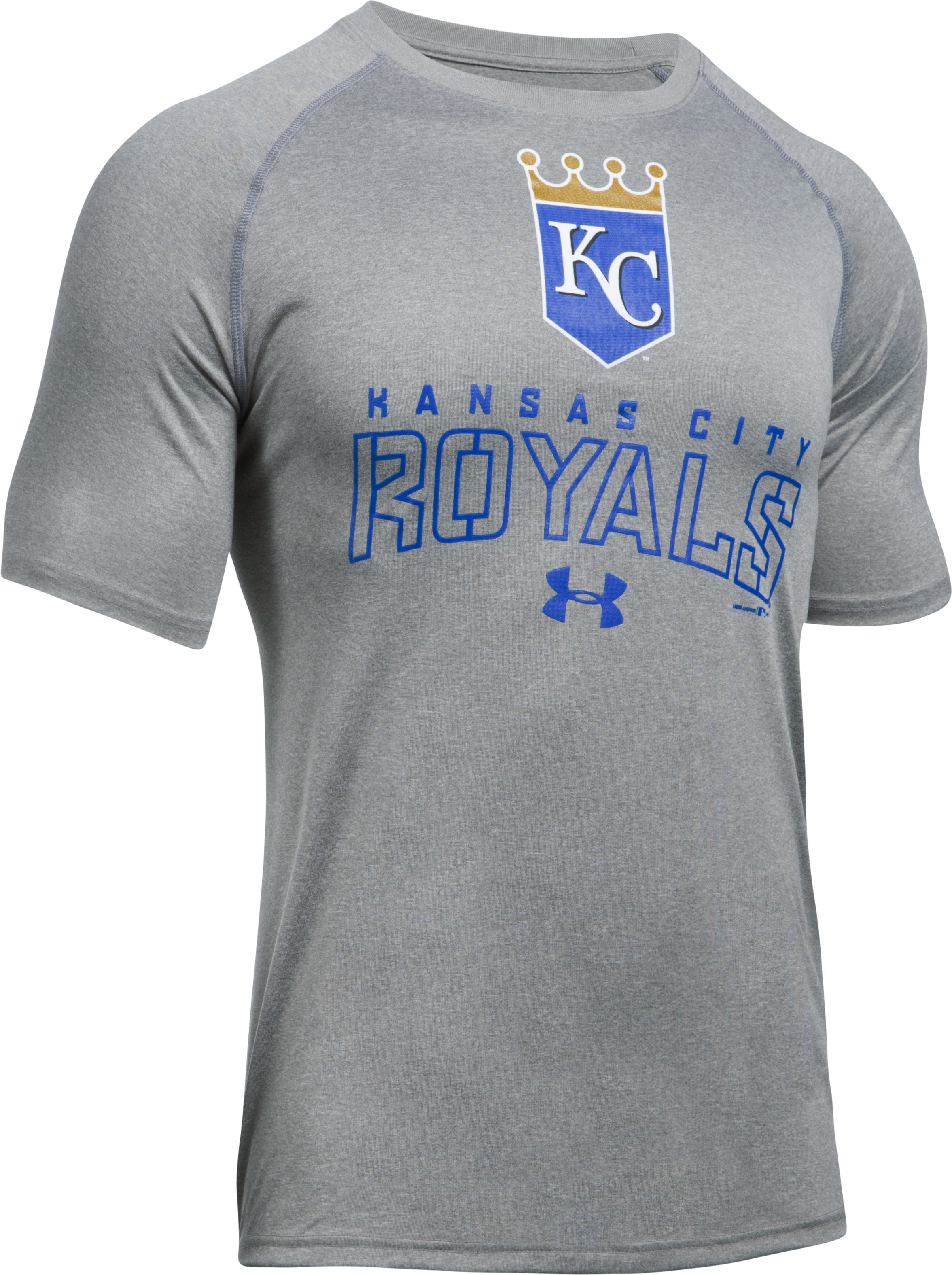 Men's Kansas City Royals UA Tech™ T-Shirt, True Gray Heather, undefined