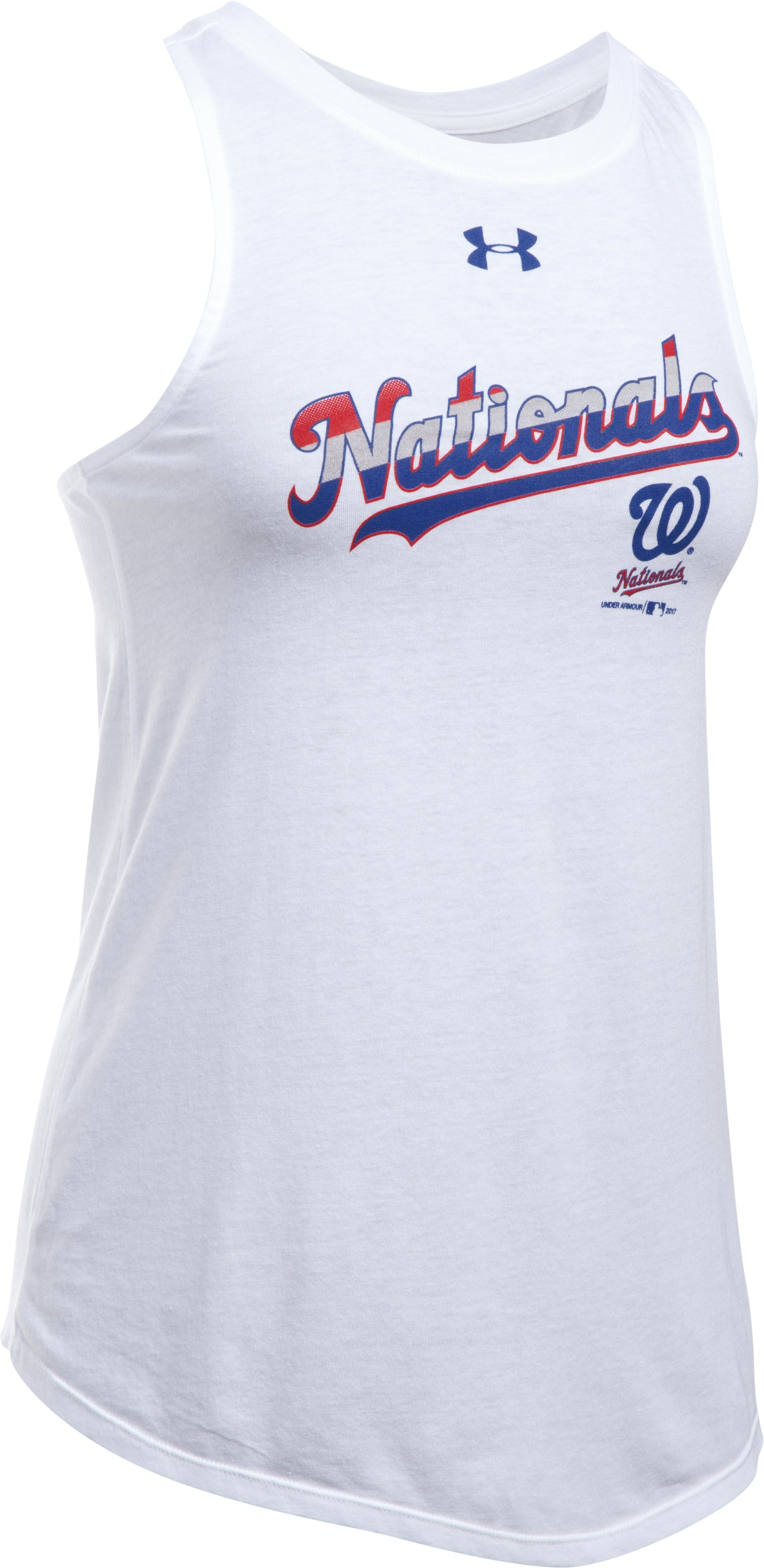 Women's Washington Nationals Cutout Tank, White,