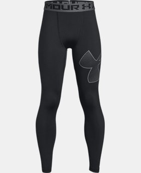 Boys' HeatGear® Armour Logo Leggings  2  Colors Available $34.99